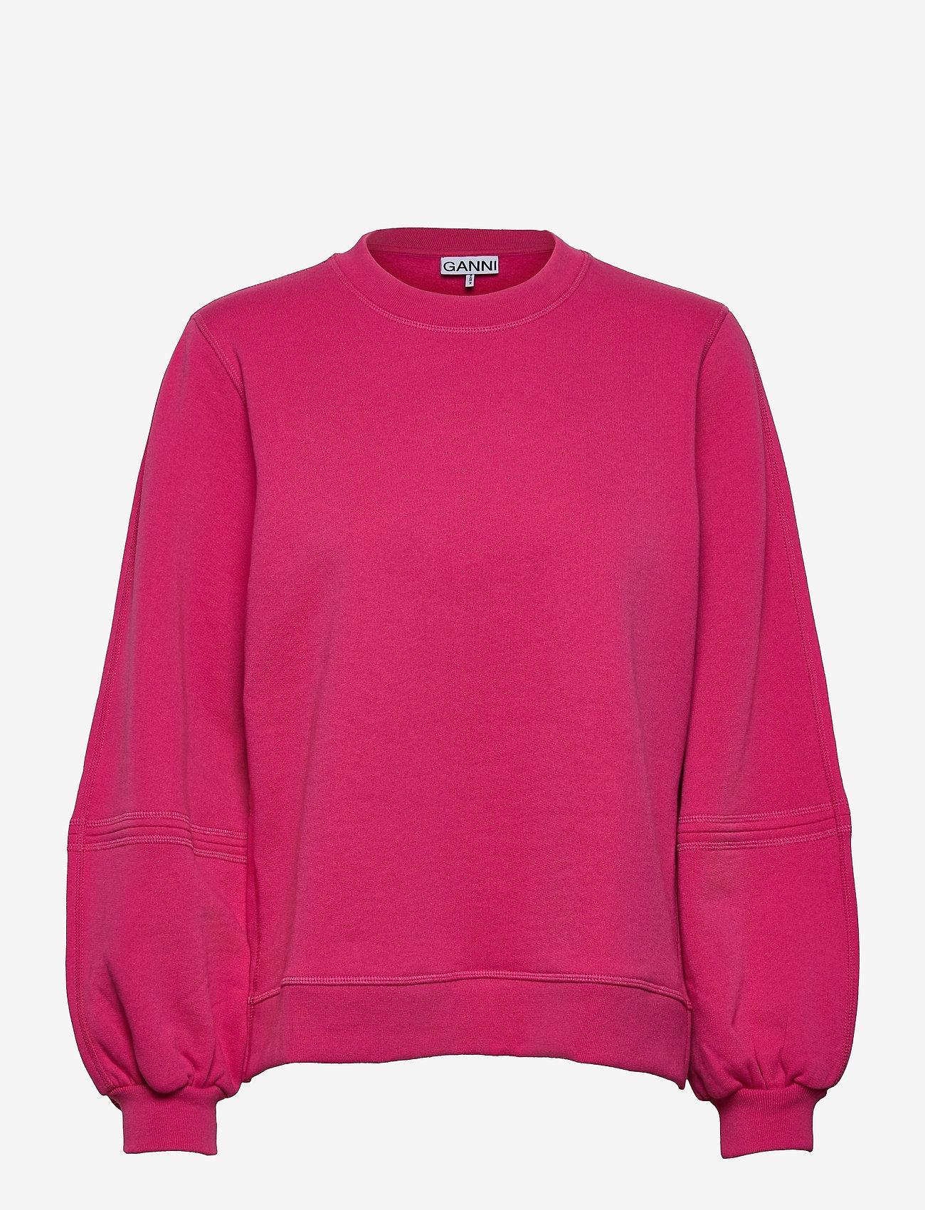 Ganni - Software Isoli - sweatshirts & hættetrøjer - shocking pink - 0