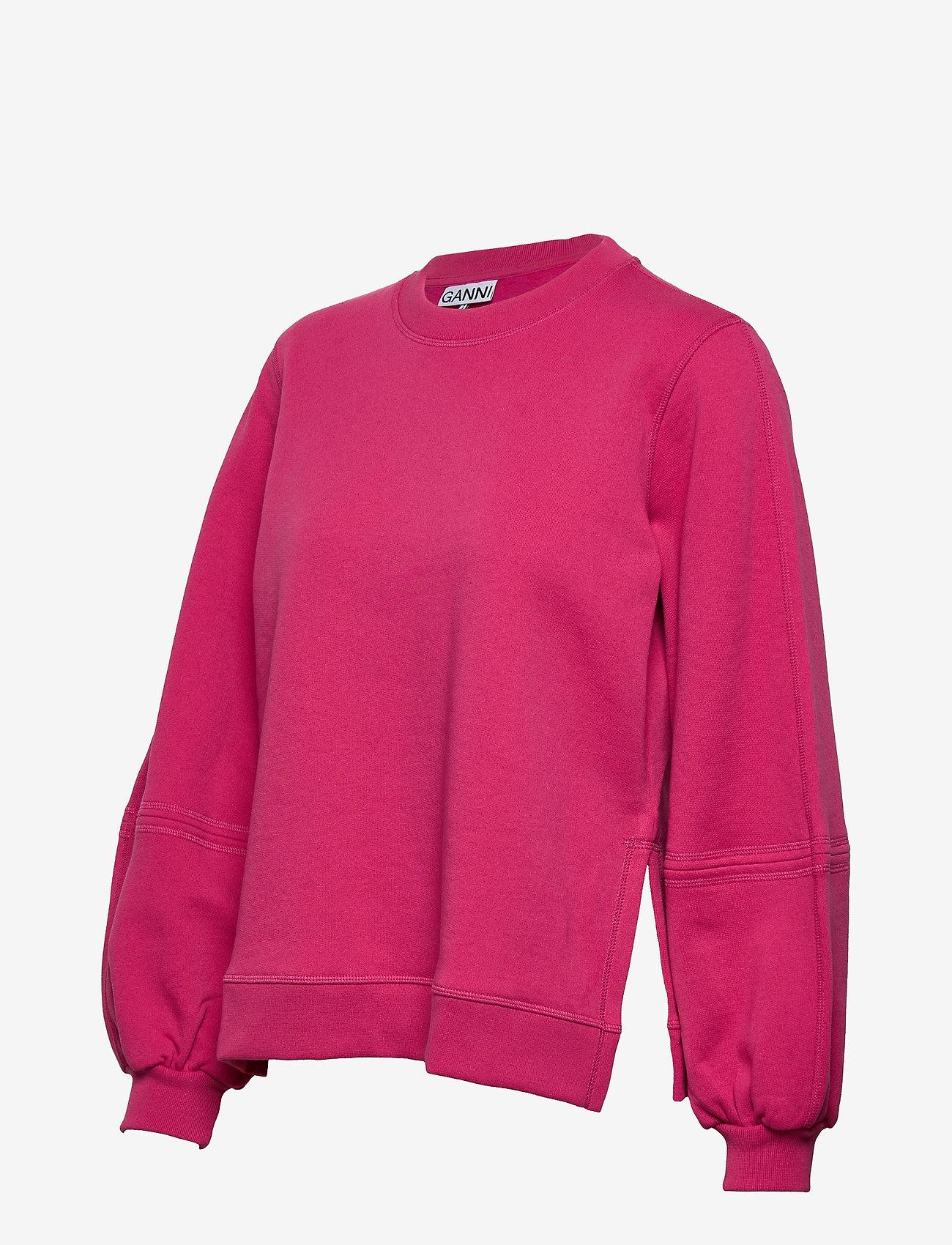 Ganni - Software Isoli - sweatshirts & hættetrøjer - shocking pink - 2