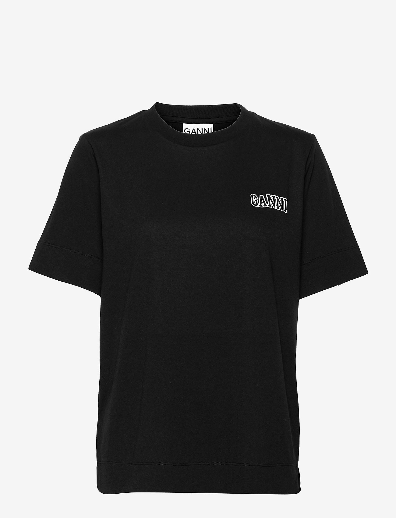 Ganni - Thin Software Jersey - t-shirt & tops - black - 0