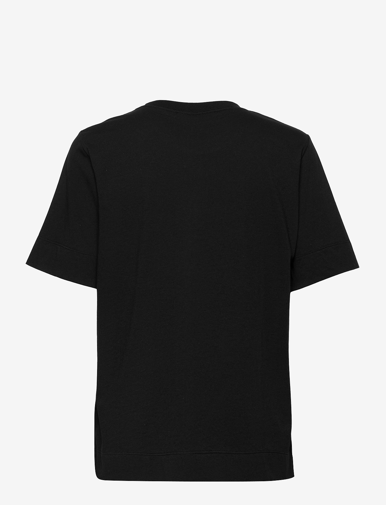 Ganni - Thin Software Jersey - t-shirt & tops - black - 1