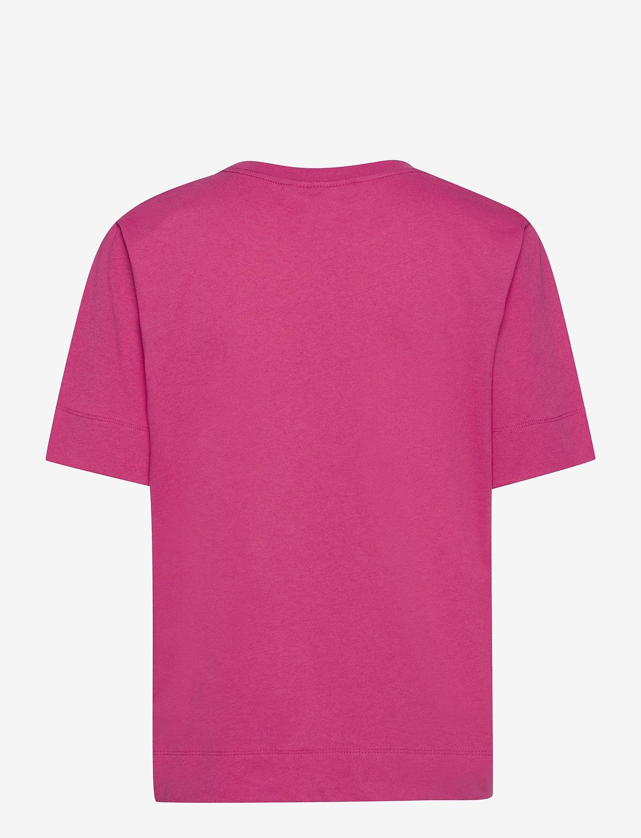 Ganni - Thin Software Jersey - t-shirts - shocking pink - 1