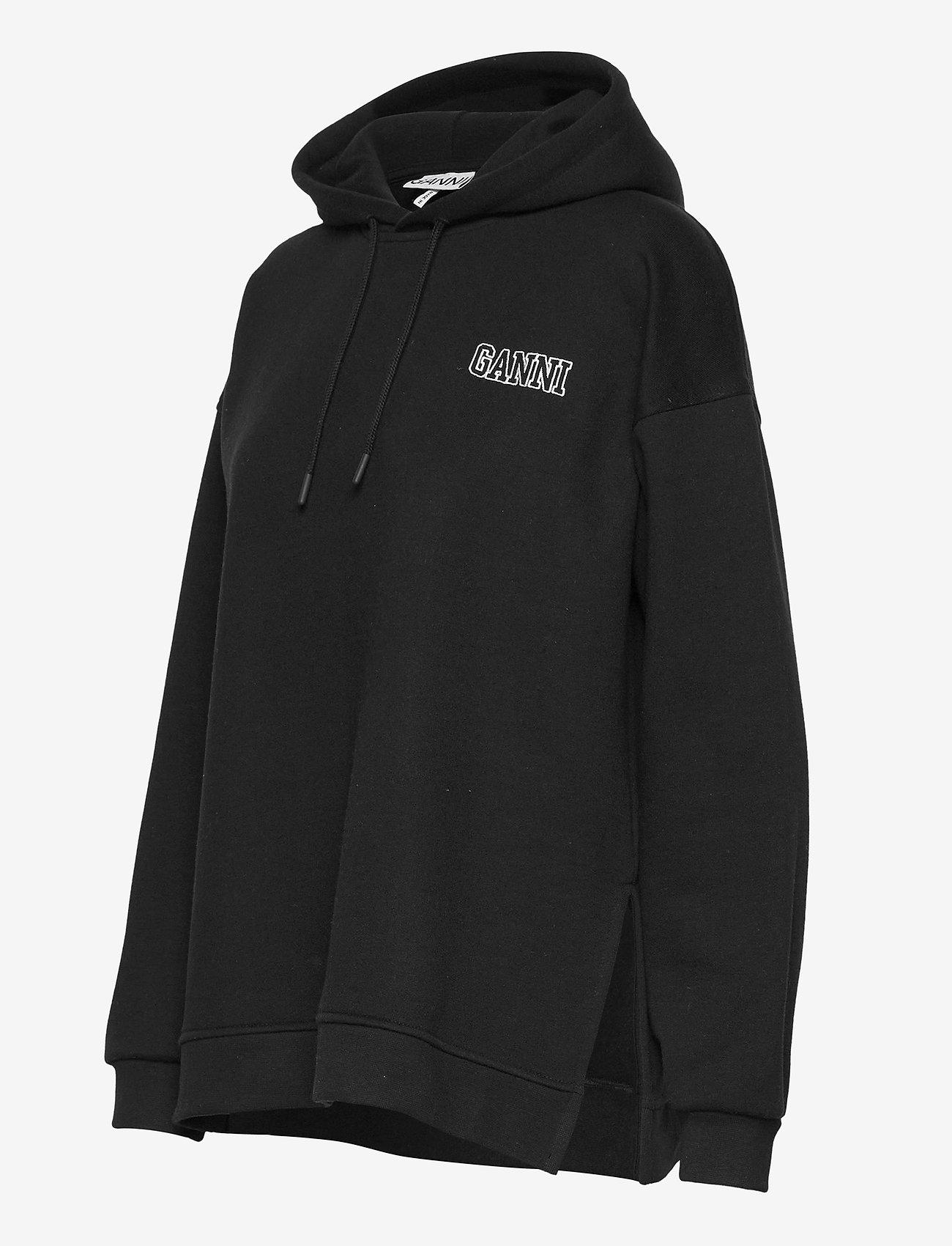 Ganni - Software Isoli - sweatshirts & hættetrøjer - black - 3