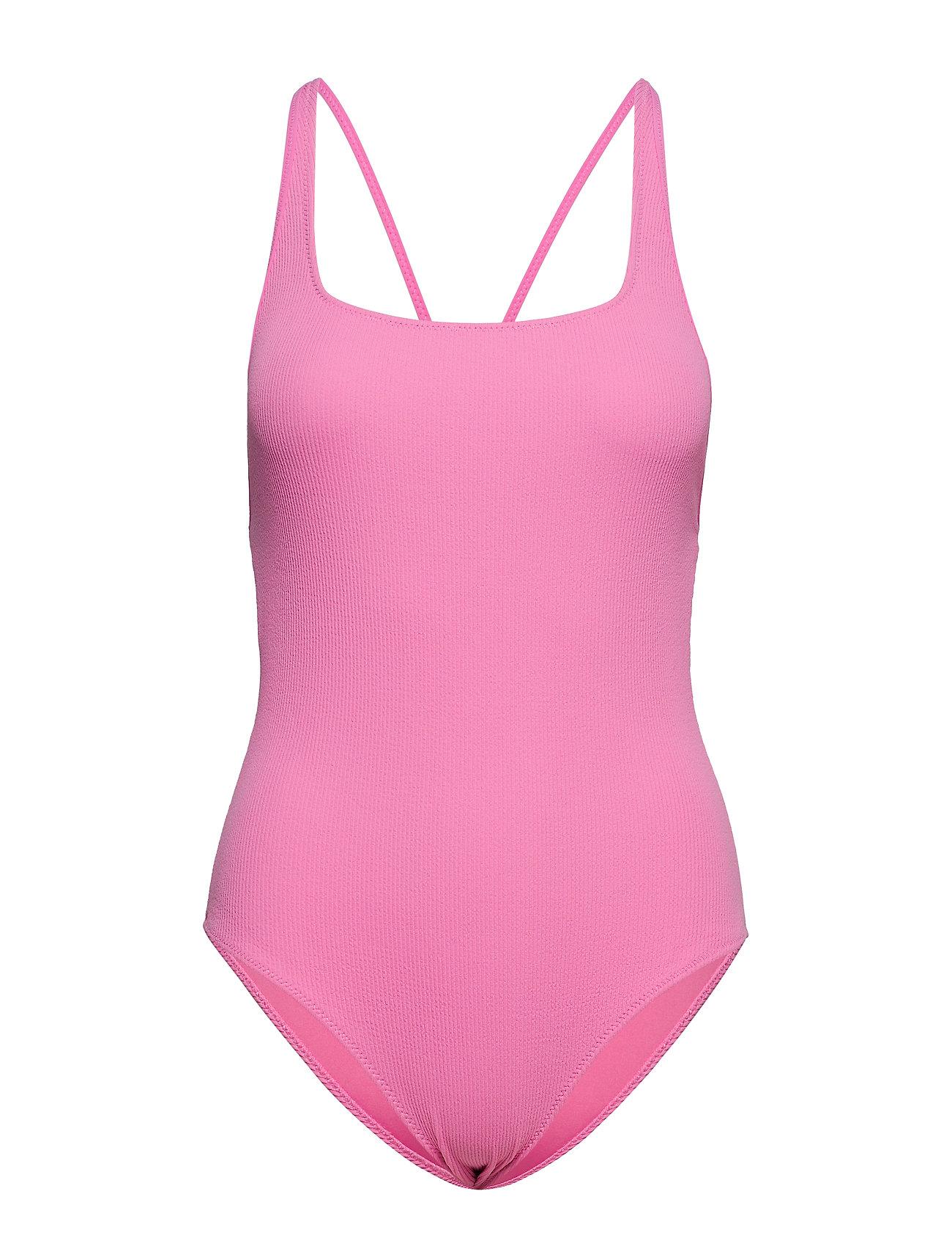 Ganni Textured Swimwear - MOONLIGHT MAUVE
