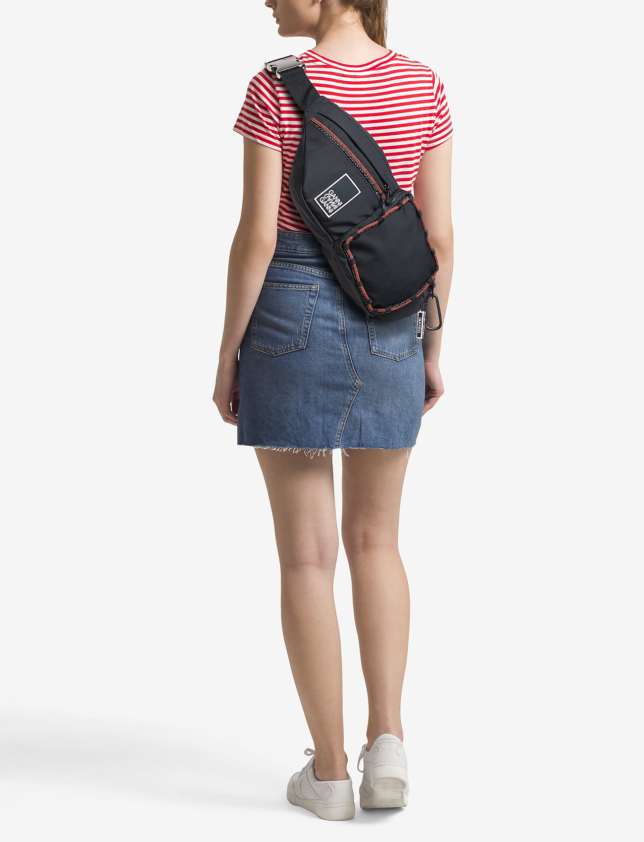 Ganni Tech Fabric Bags - BLACK