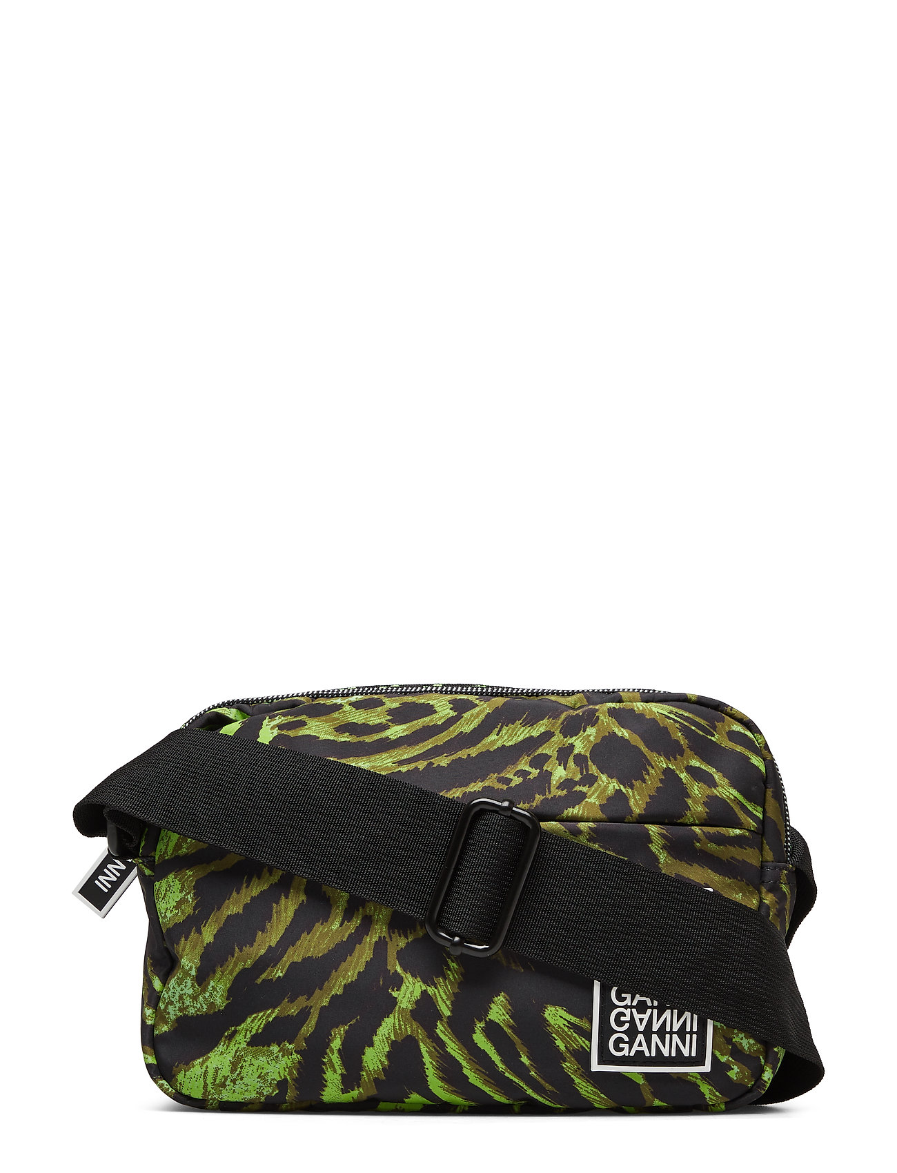 Ganni Tech Fabric Bags - LIME TIGER