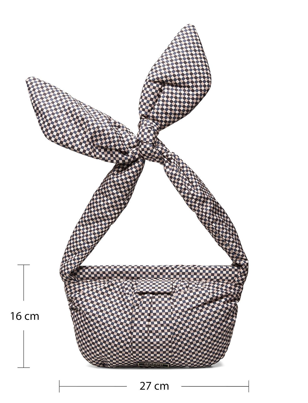 Ganni - Padded Tech Fabric - top handle tasker - tannin - 4