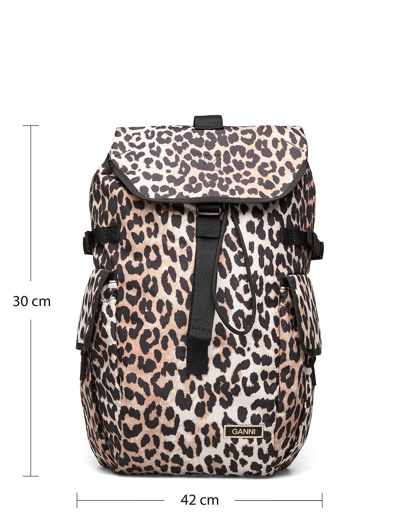 Ganni - Recycled Tech Fabric Bags - tassen - leopard - 4