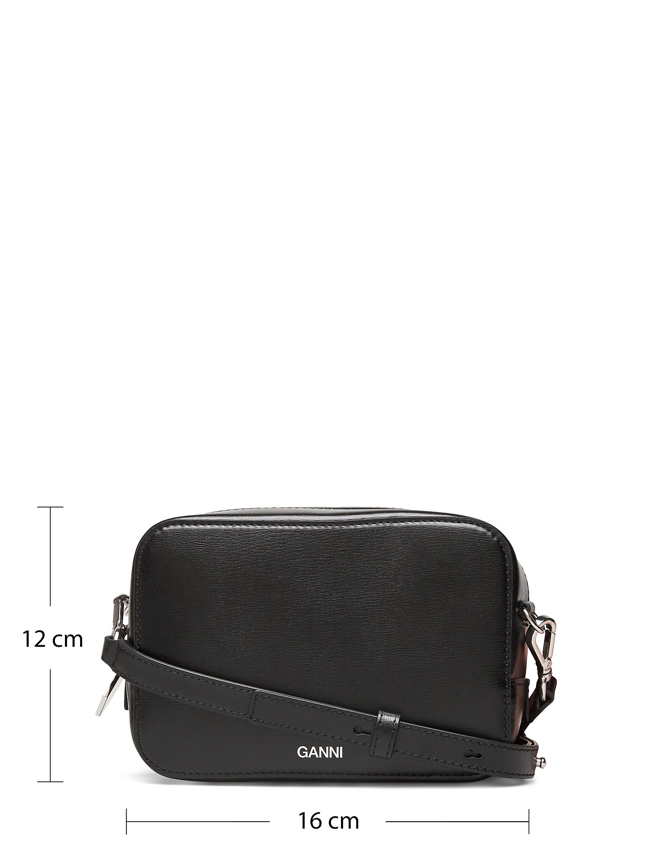 Ganni - Recycled Leather - crossbody bags - black - 5
