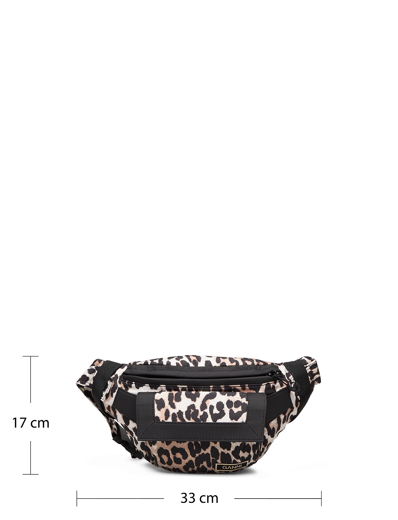 Ganni - Recycled Tech Fabric Bags - belt bags - leopard - 4