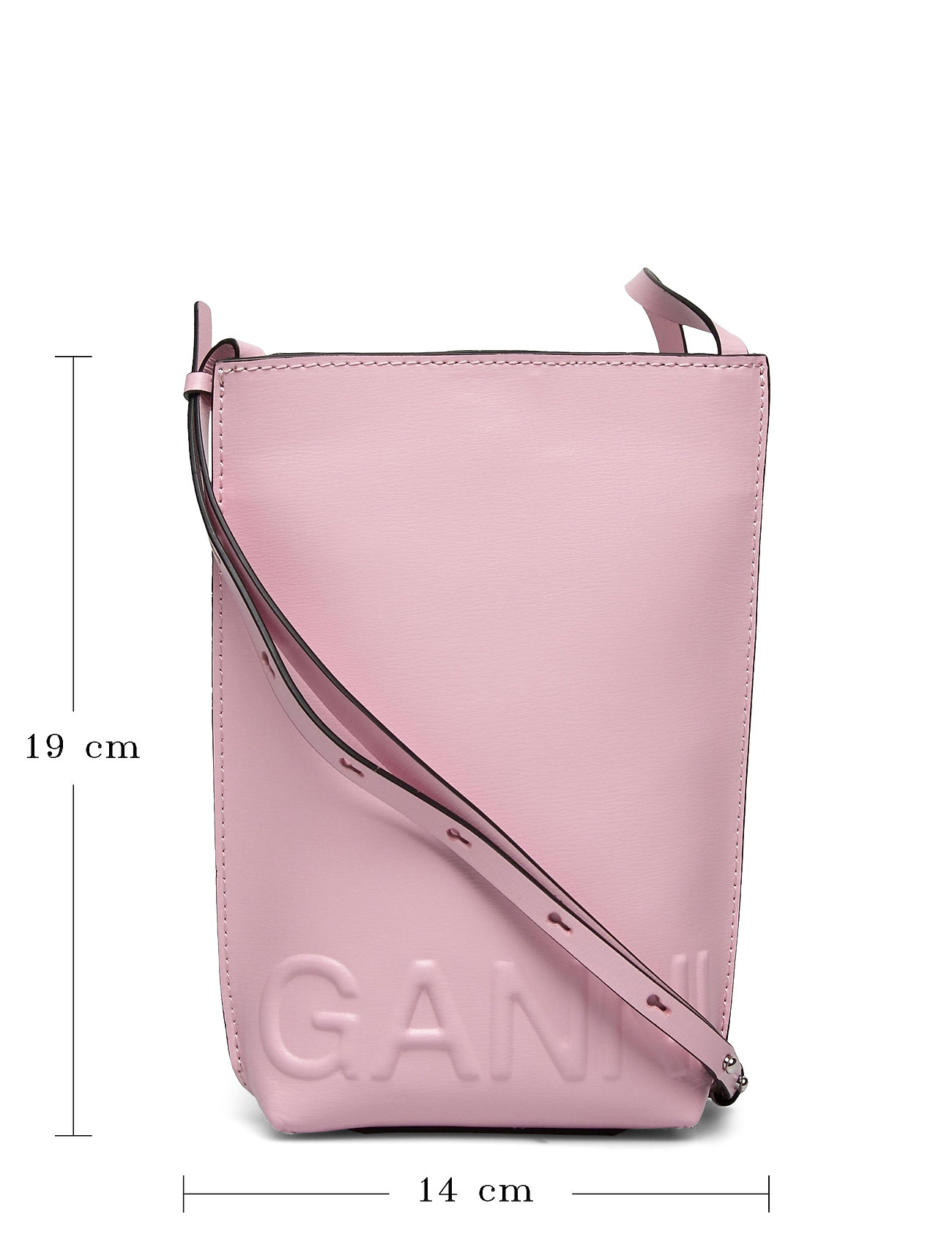 Ganni - Recycled Leather - shoulder bags - pink nectar - 5