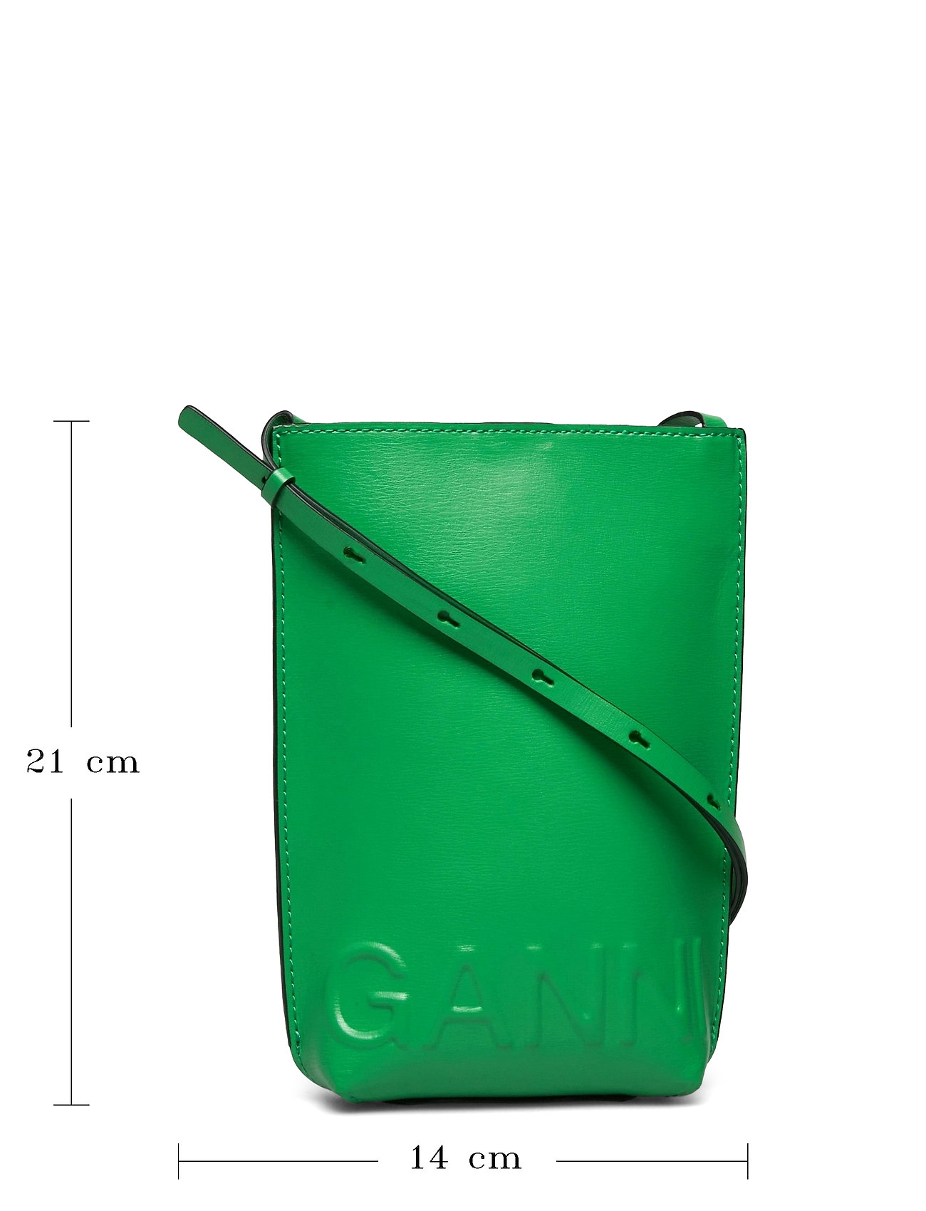 Ganni - Recycled Leather - tasker - kelly green - 5