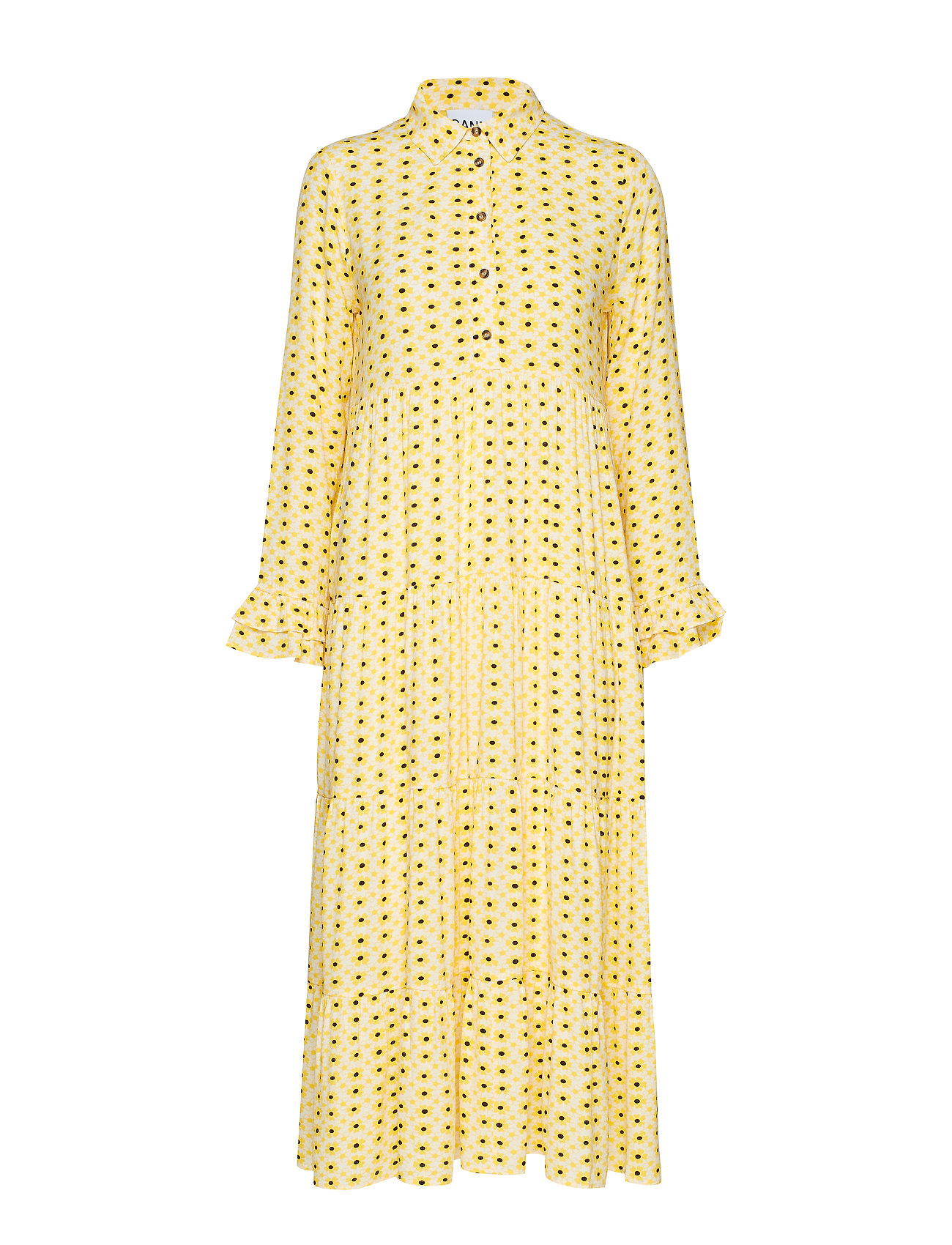 Ganni Printed Crepe - MAIZE