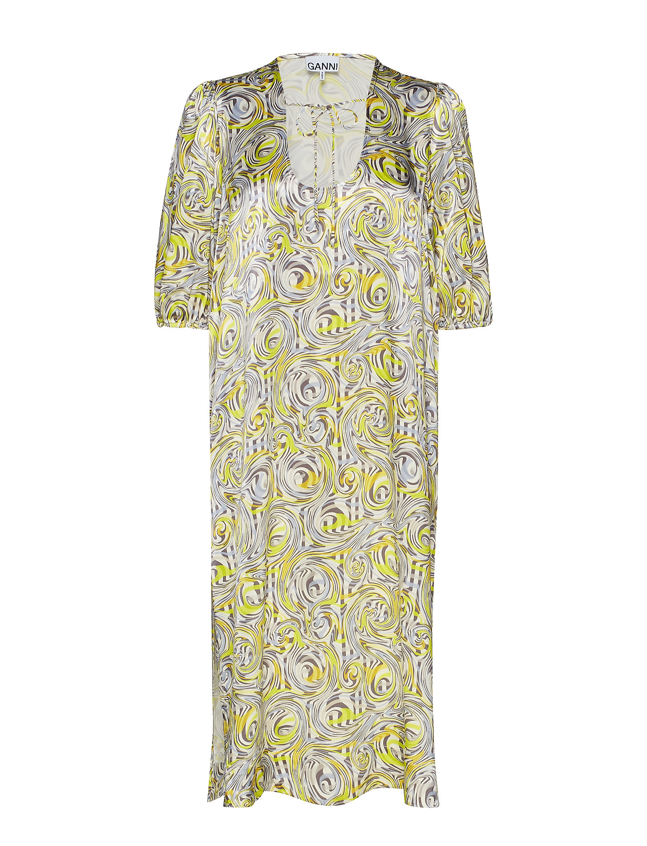 Ganni Heavy Satin Long Dress