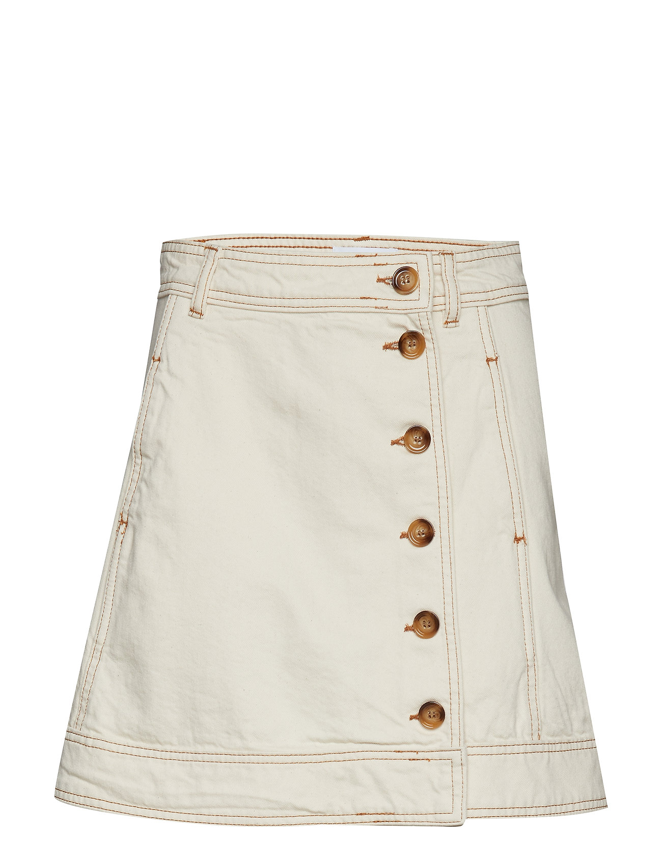 Ganni Heavy Twill Skirt - VANILLA ICE