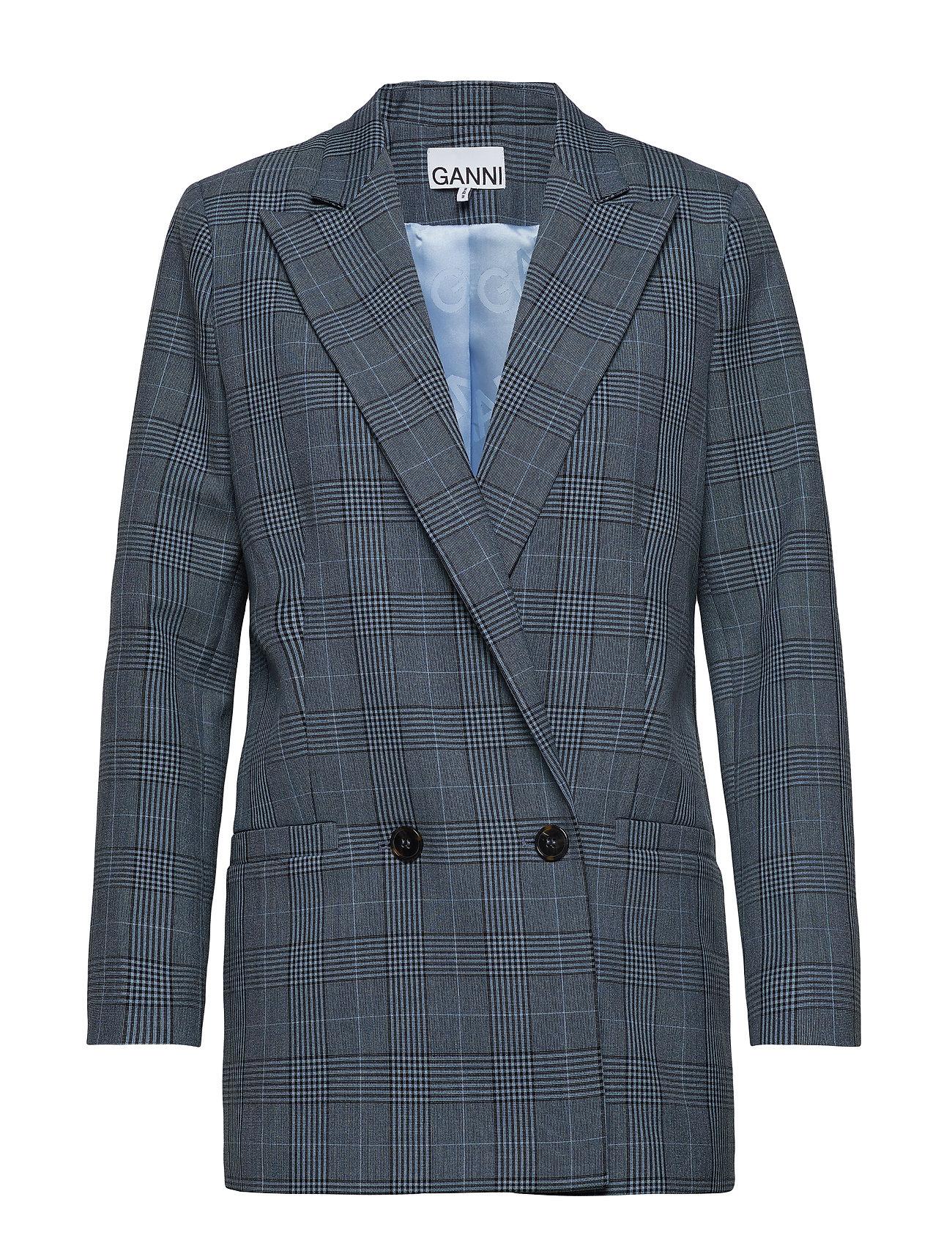 Ganni Suiting Blazer - FOREVER BLUE