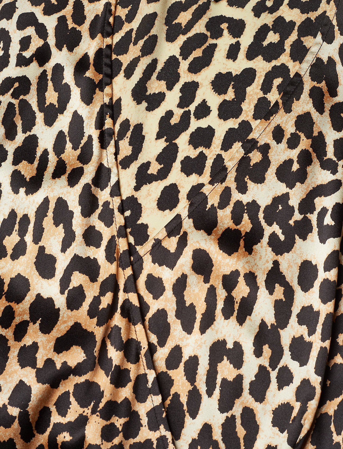 Ganni Silk Stretch Satin Wrap Dress - Klänningar Leopard