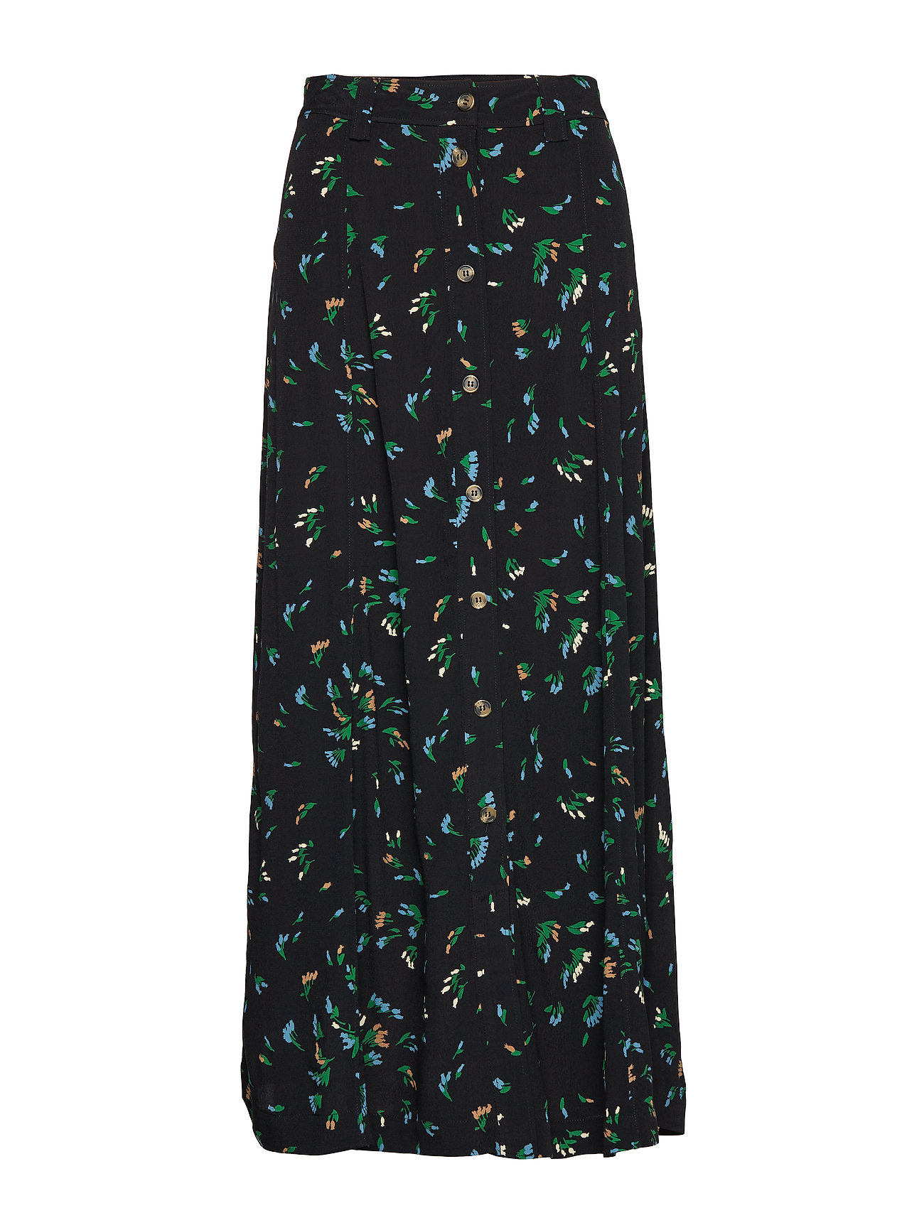 Ganni Printed Crepe Skirt - VERDANT GREEN
