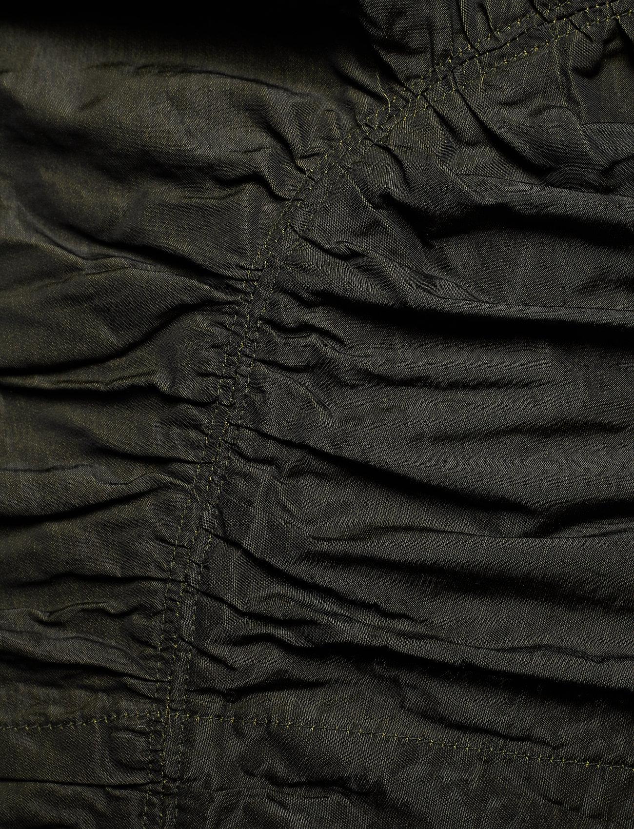 Ganni - Shiny Chino - long sleeved blouses - kalamata - 3