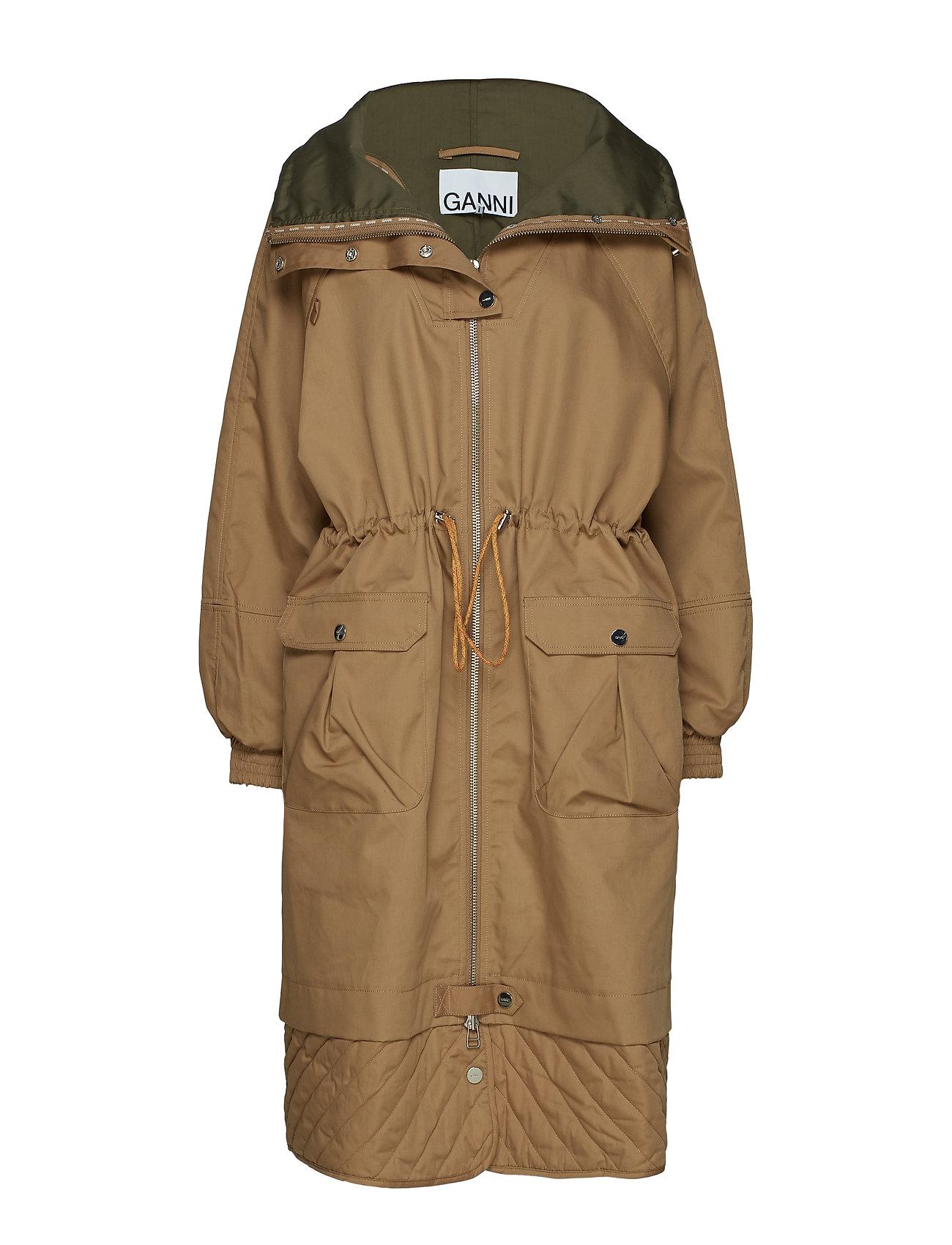 Ganni Double Cotton Jacket - TIGER'S EYE