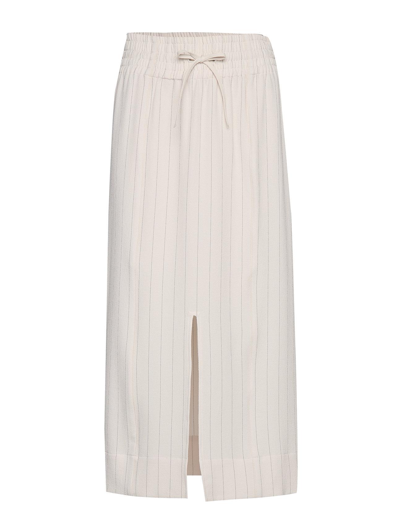 Ganni Heavy Crepe Skirt - TAPIOCA