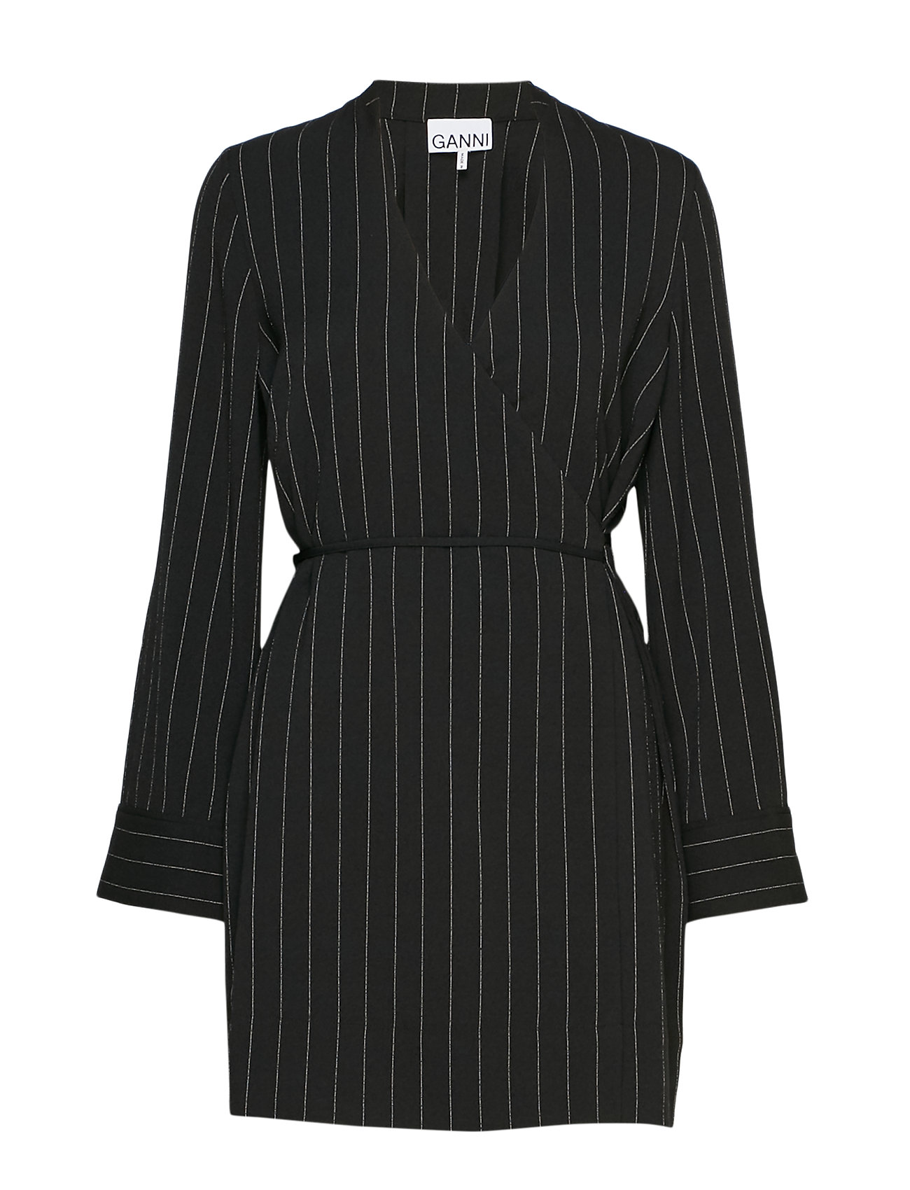 Ganni Heavy Crepe Blazer Dress - BLACK