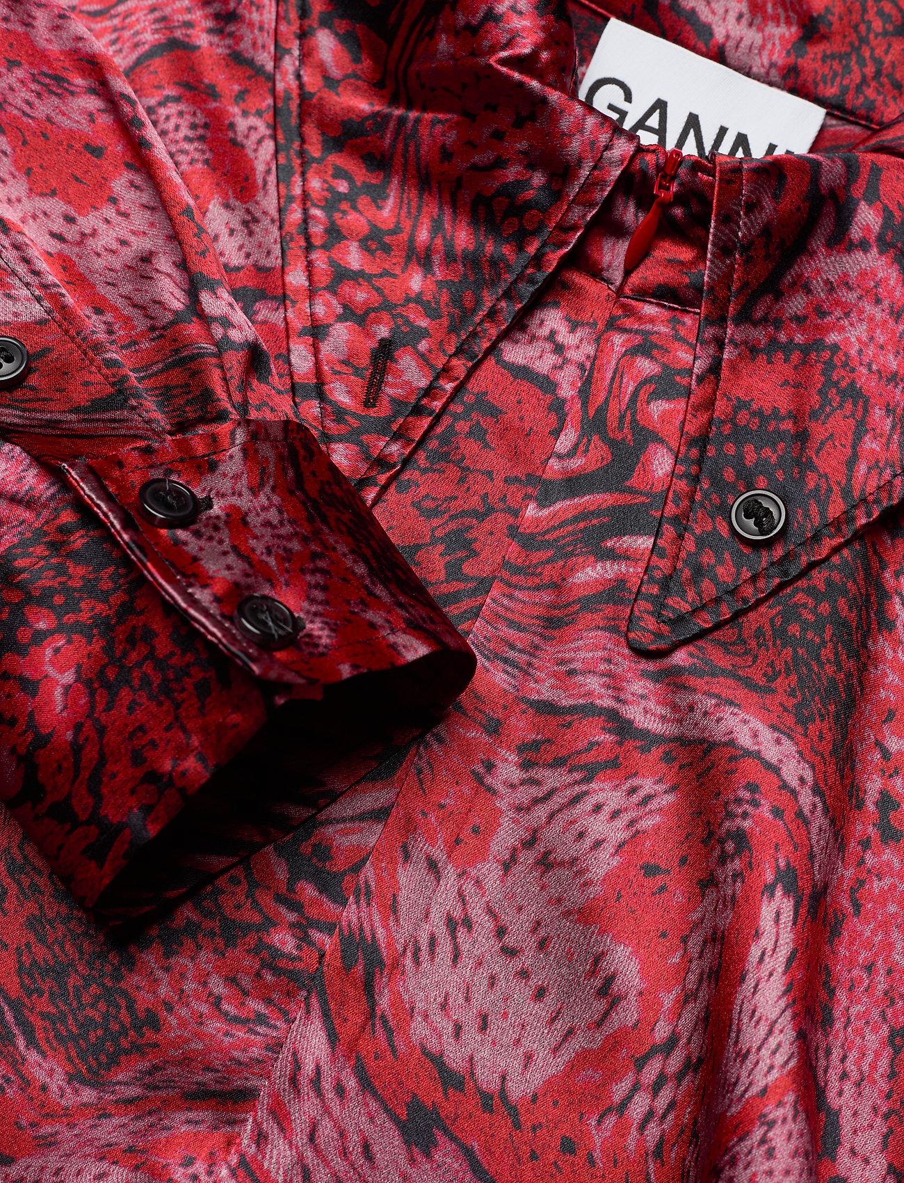 Ganni Silk Stretch Satin - Sukienki SAMBA - Kobiety Odzież.