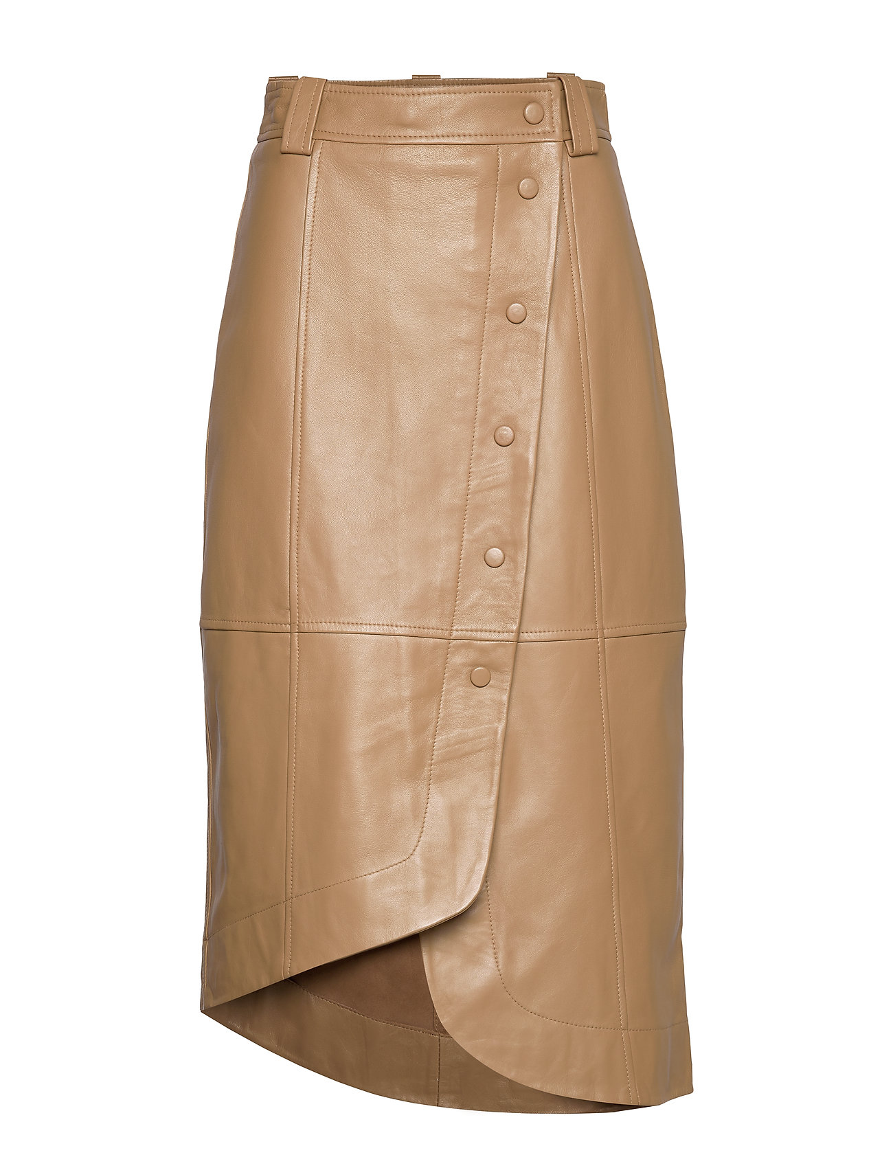 lamb-leather-skirt by ganni