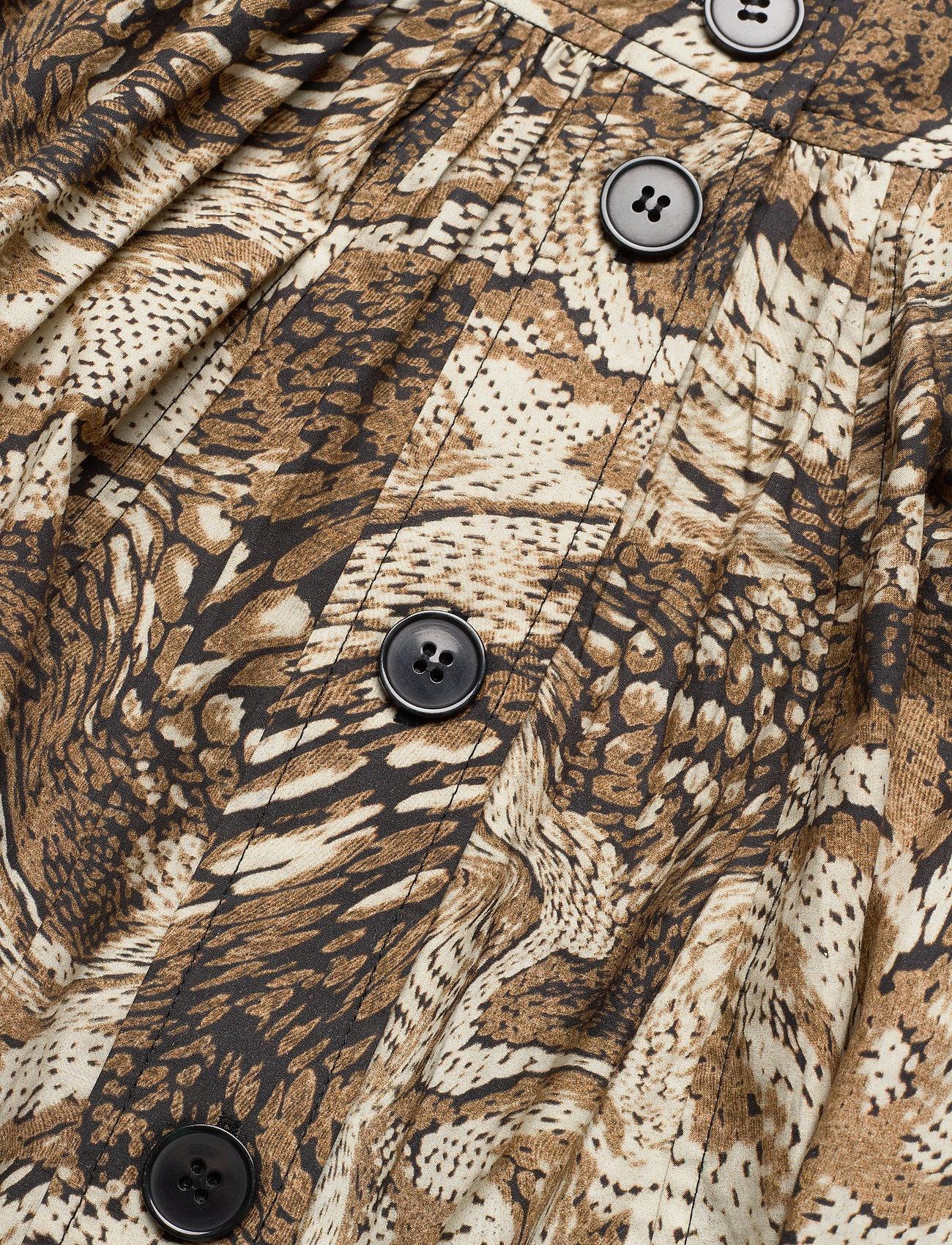 Ganni - Printed Cotton Poplin - maxi nederdele - tiger's eye - 2