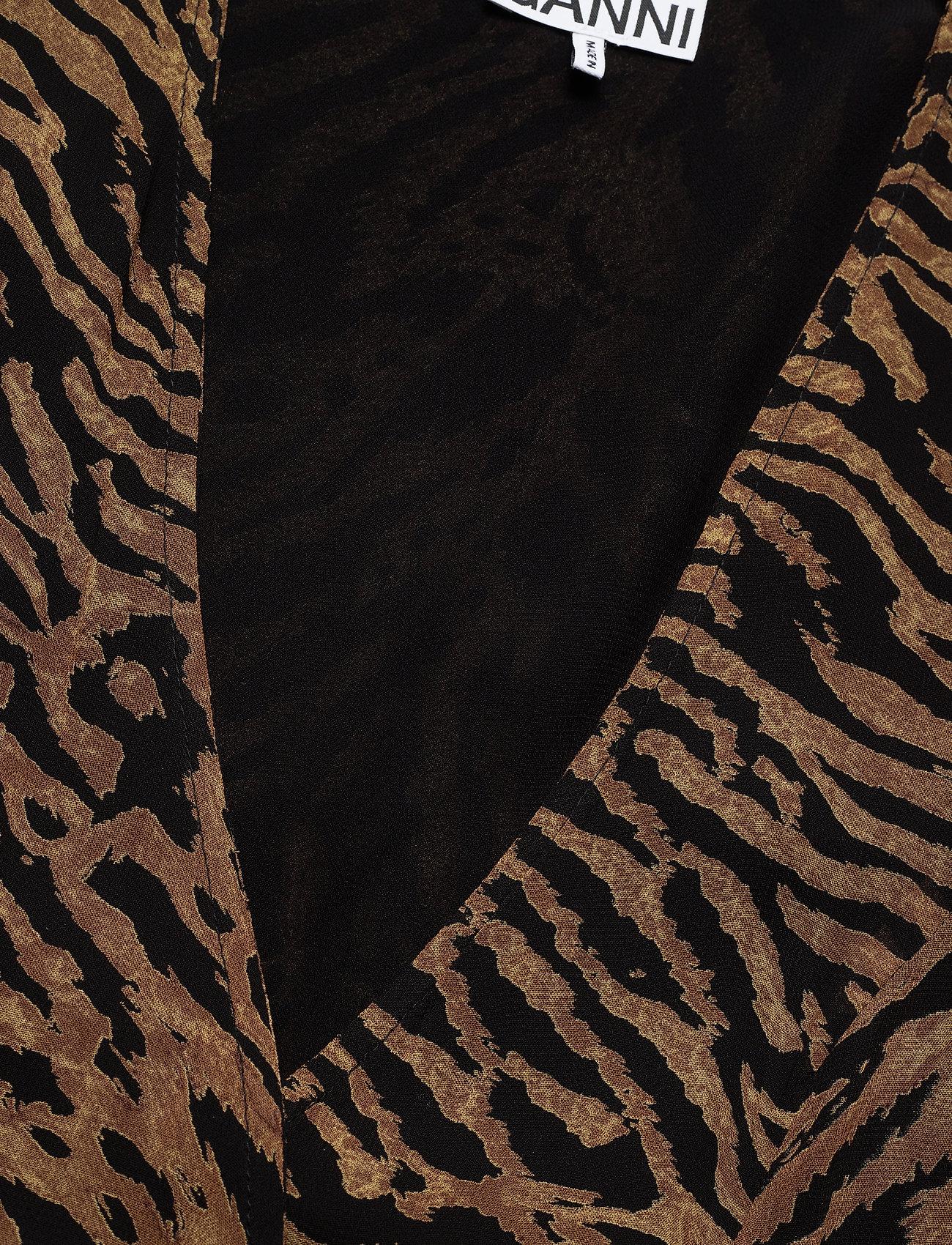 Ganni Printed Georgette - Klänningar Tiger