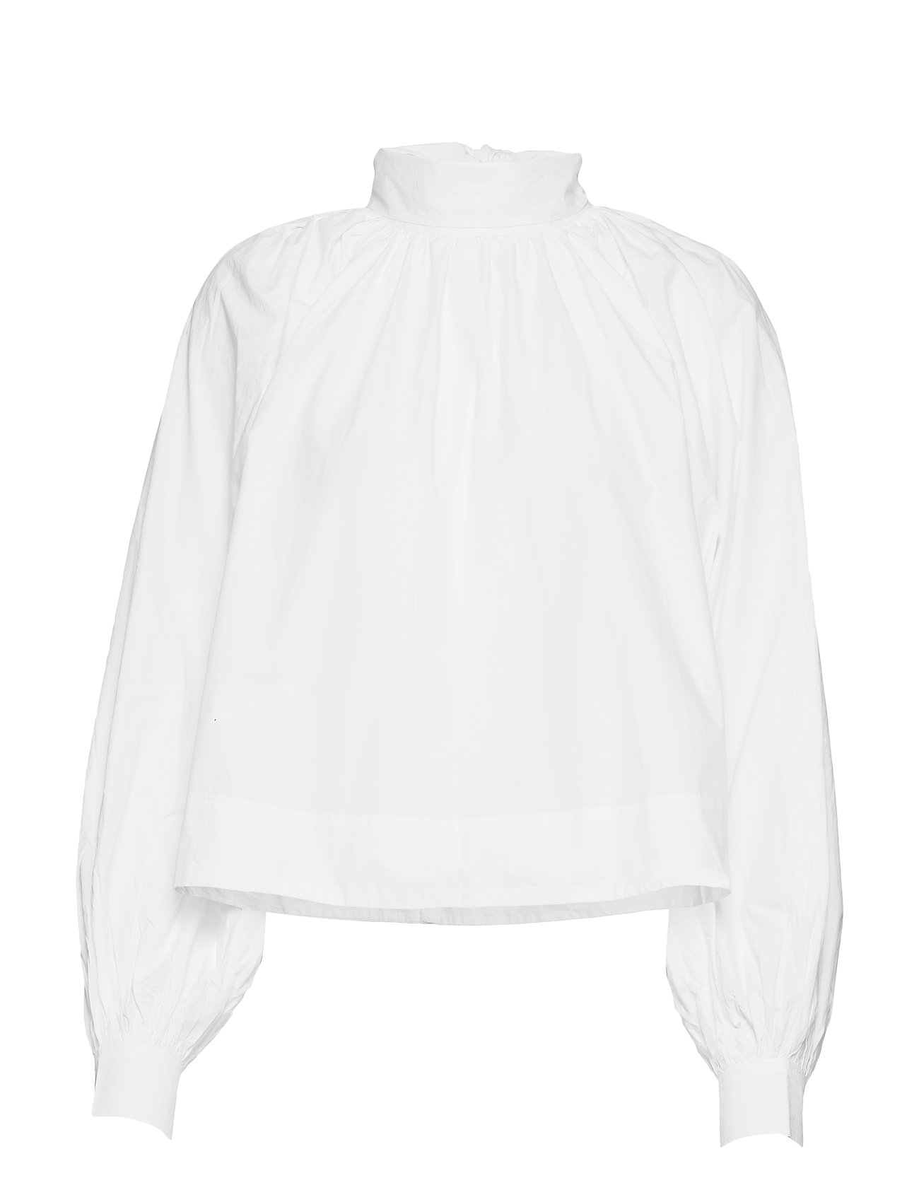 Ganni Cotton Poplin Blouse - BRIGHT WHITE