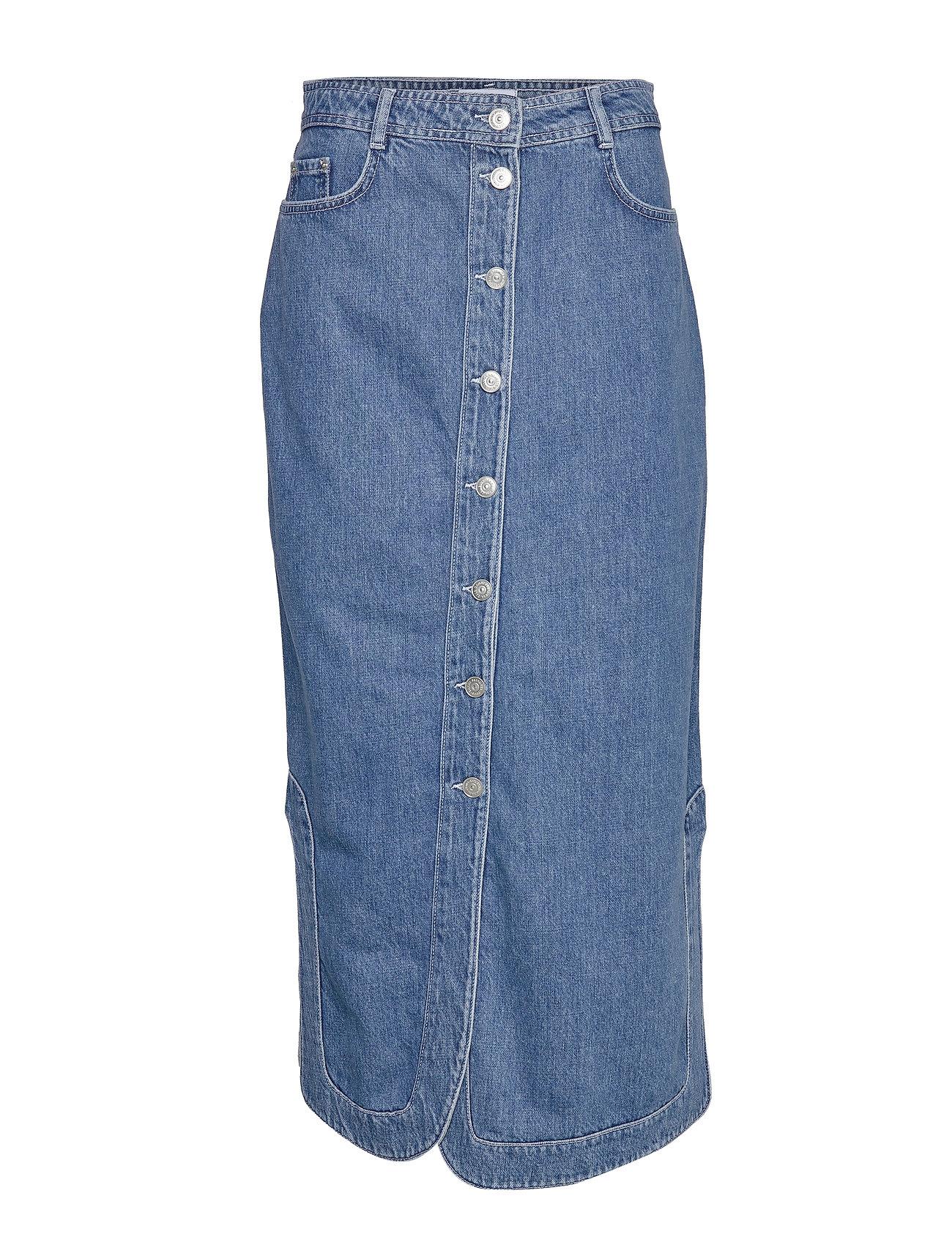 Ganni Suit Denim Maxi Skirt - DENIM