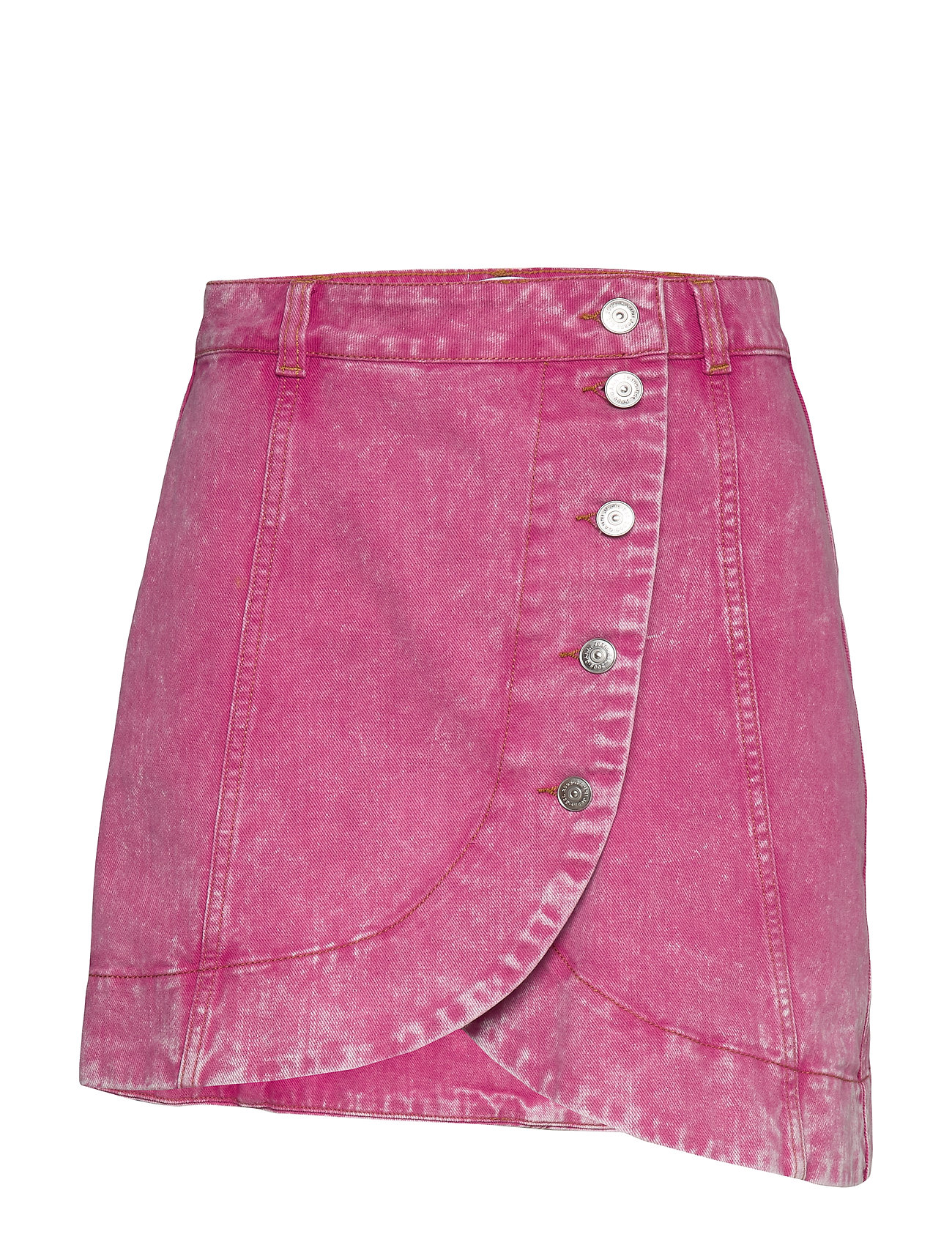 Ganni Washed Denim - FUCHSIA RED