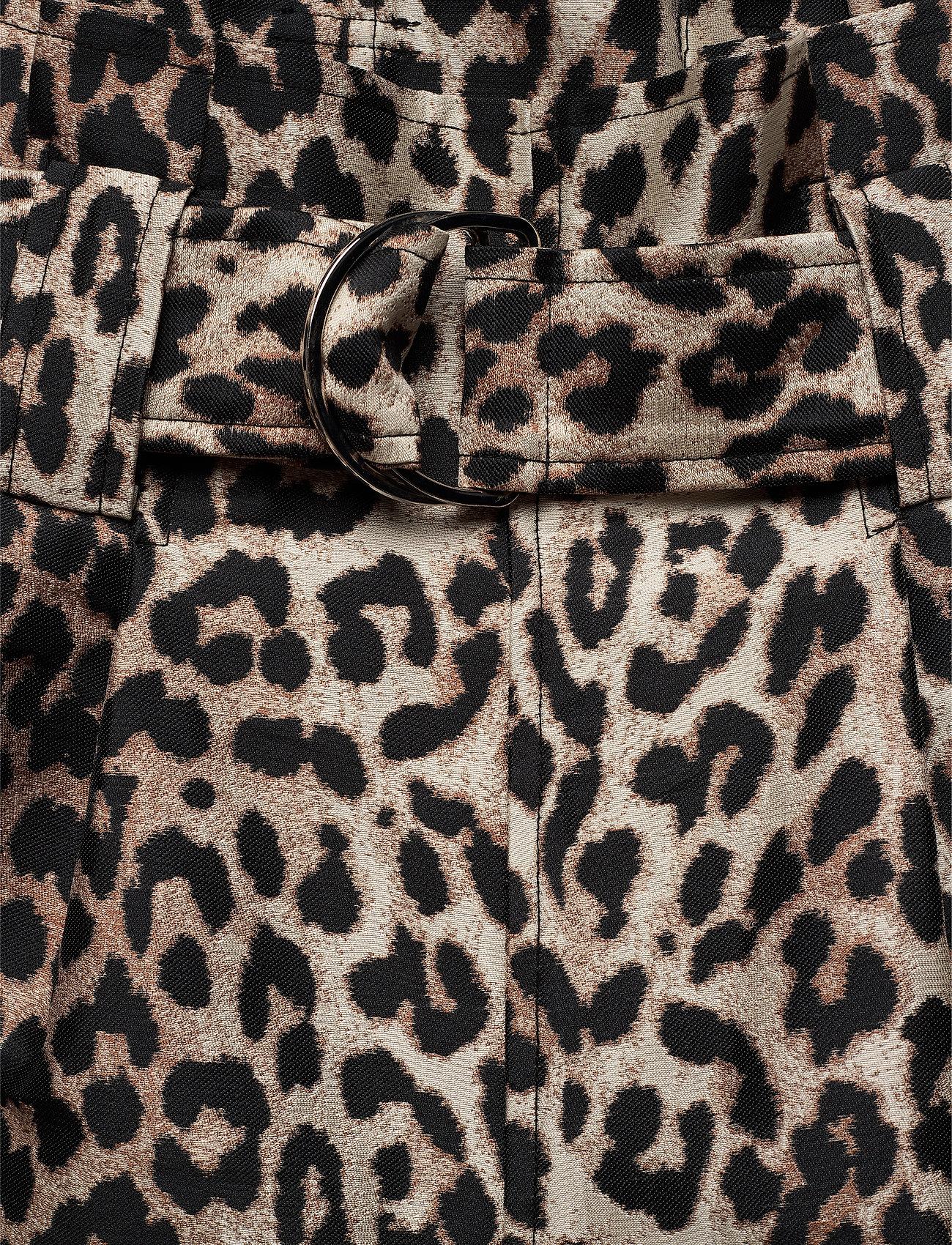 Ganni - Crispy Jacquard - bukser med brede ben - phantom - 3