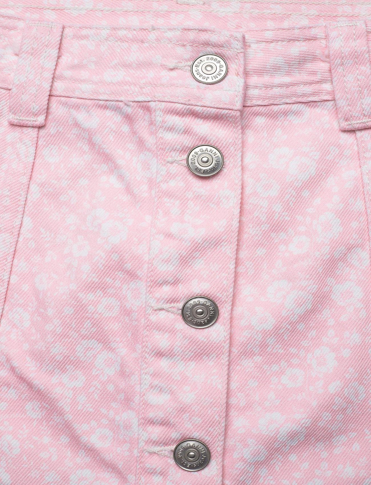 Ganni - Print Denim - midi nederdele - cherry blossom - 2