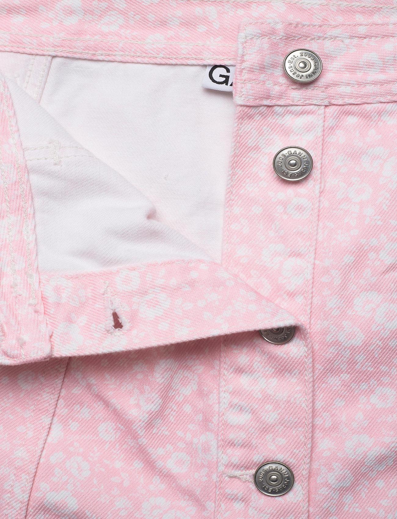 Ganni - Print Denim - midi nederdele - cherry blossom - 3