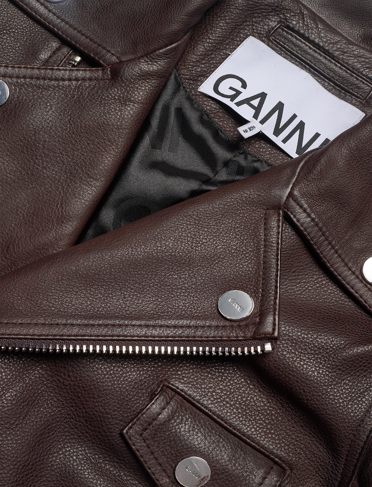 Light Grain Leather  - Ganni