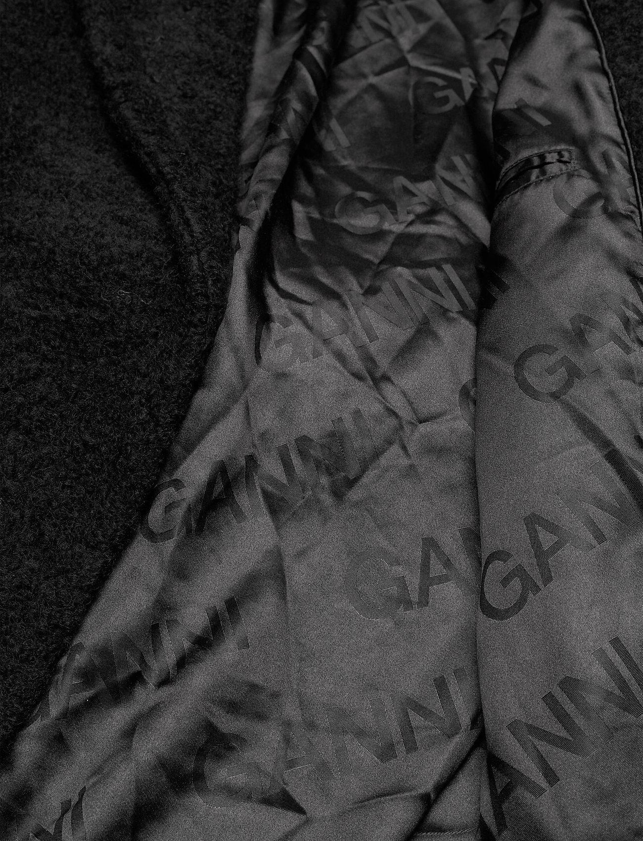 Ganni - Boucle Wool - uldjakker - black - 4