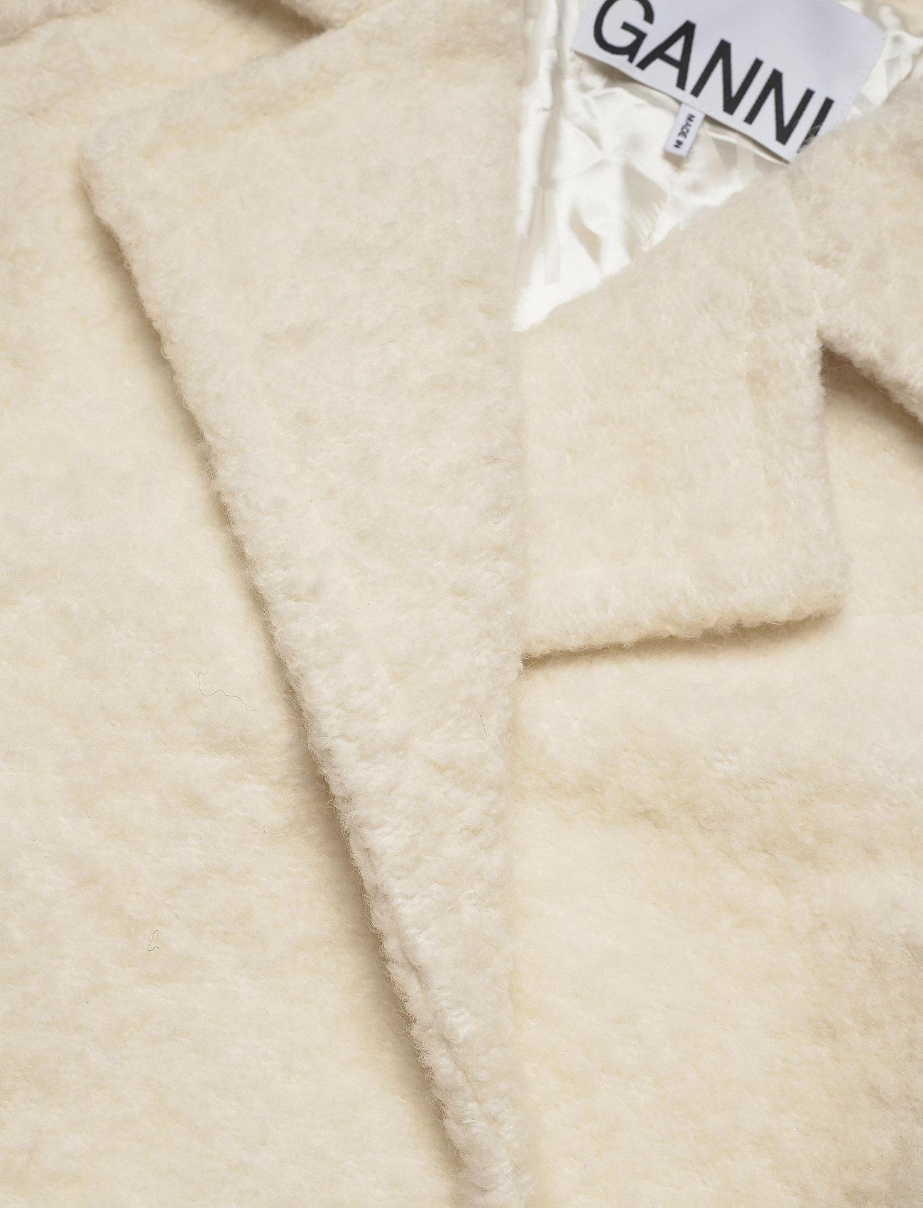 Ganni - Boucle Wool - uldjakker - egret - 2
