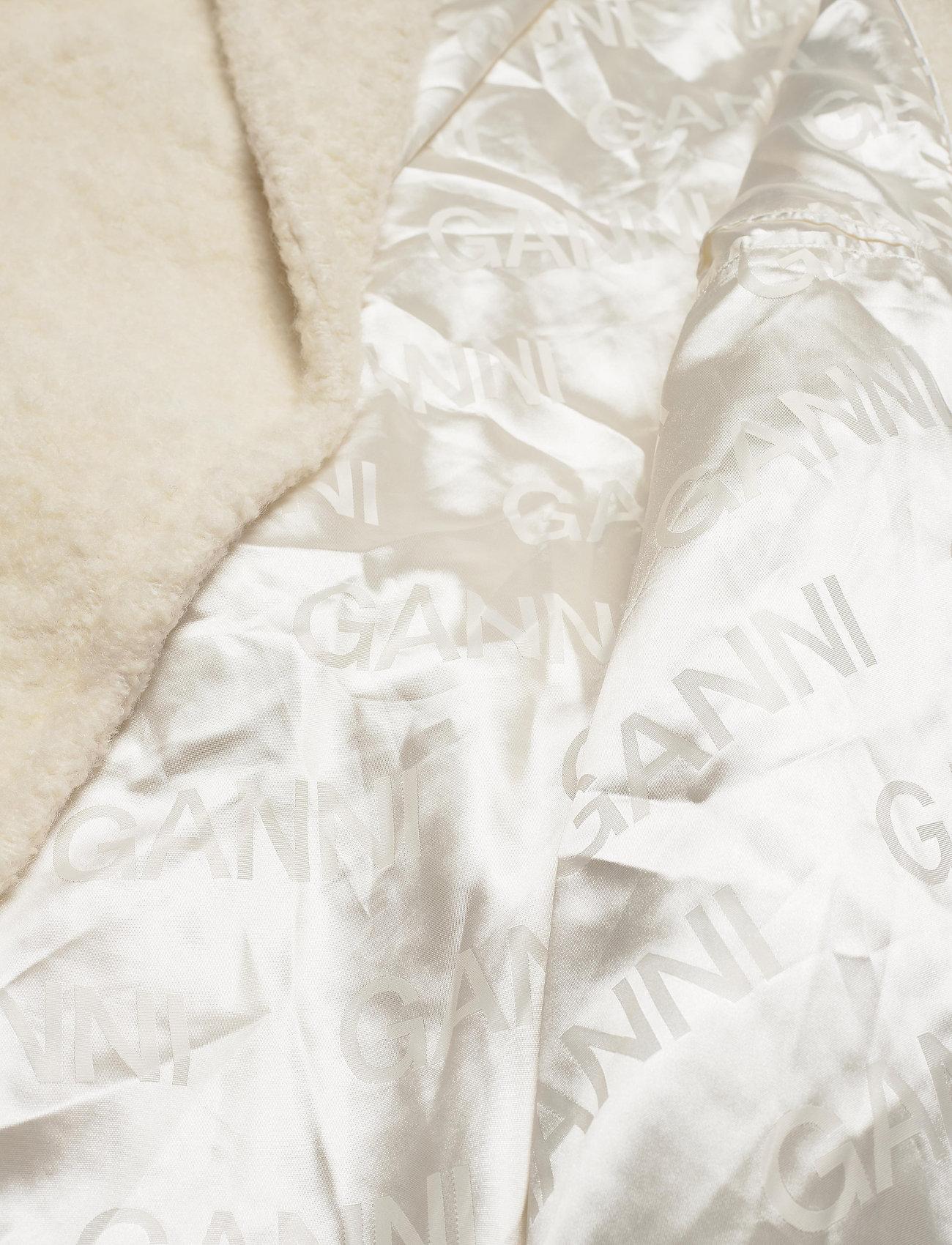 Ganni - Boucle Wool - uldjakker - egret - 4