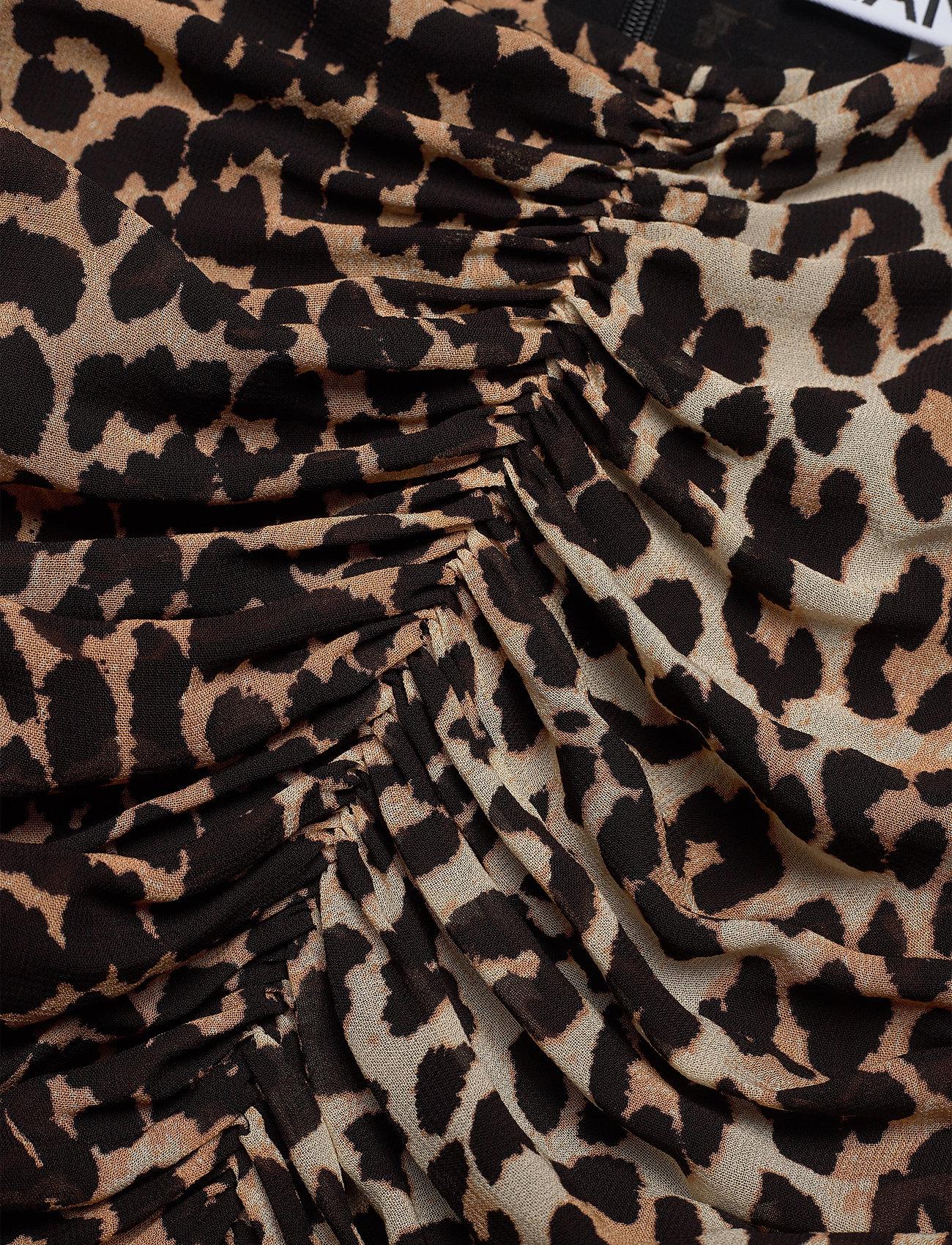 Ganni - Printed Georgette - korte nederdele - leopard - 2