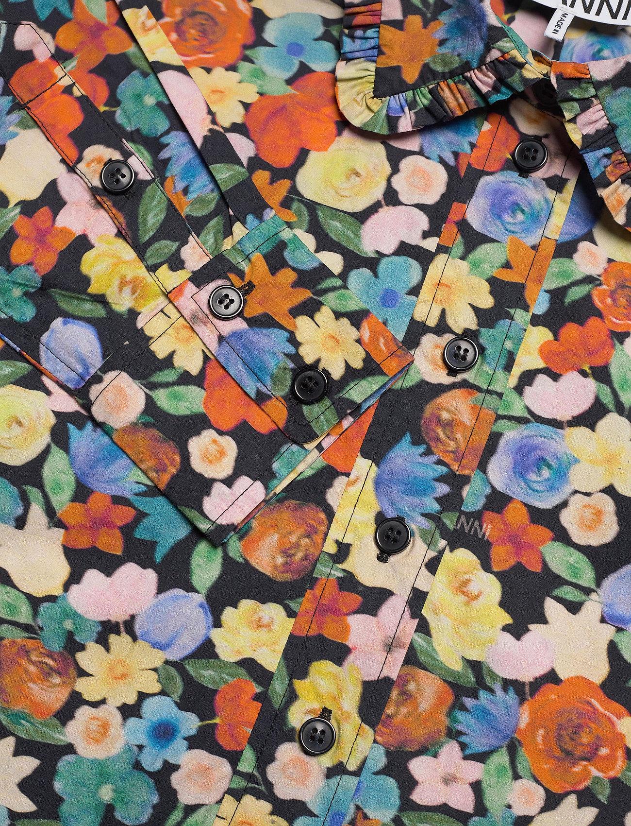 Ganni - Printed Cotton Poplin - skjortekjoler - multicolour - 2