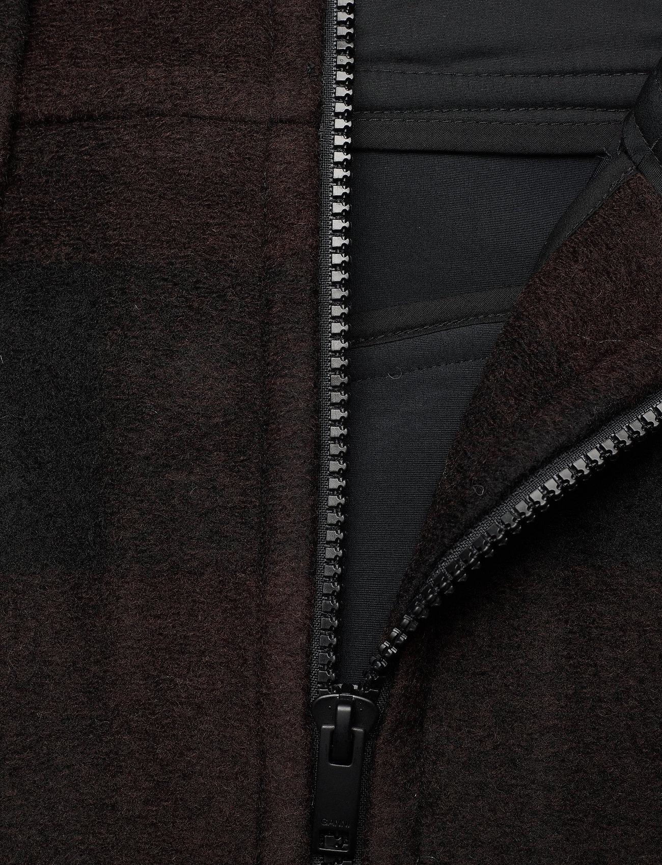 Ganni - Double Wool - korte nederdele - black - 2