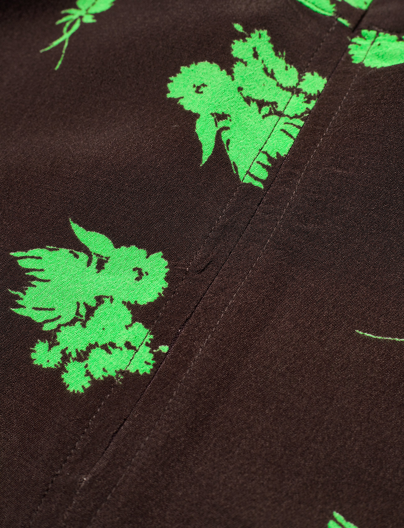Ganni - Printed Crepe - summer dresses - mole - 3