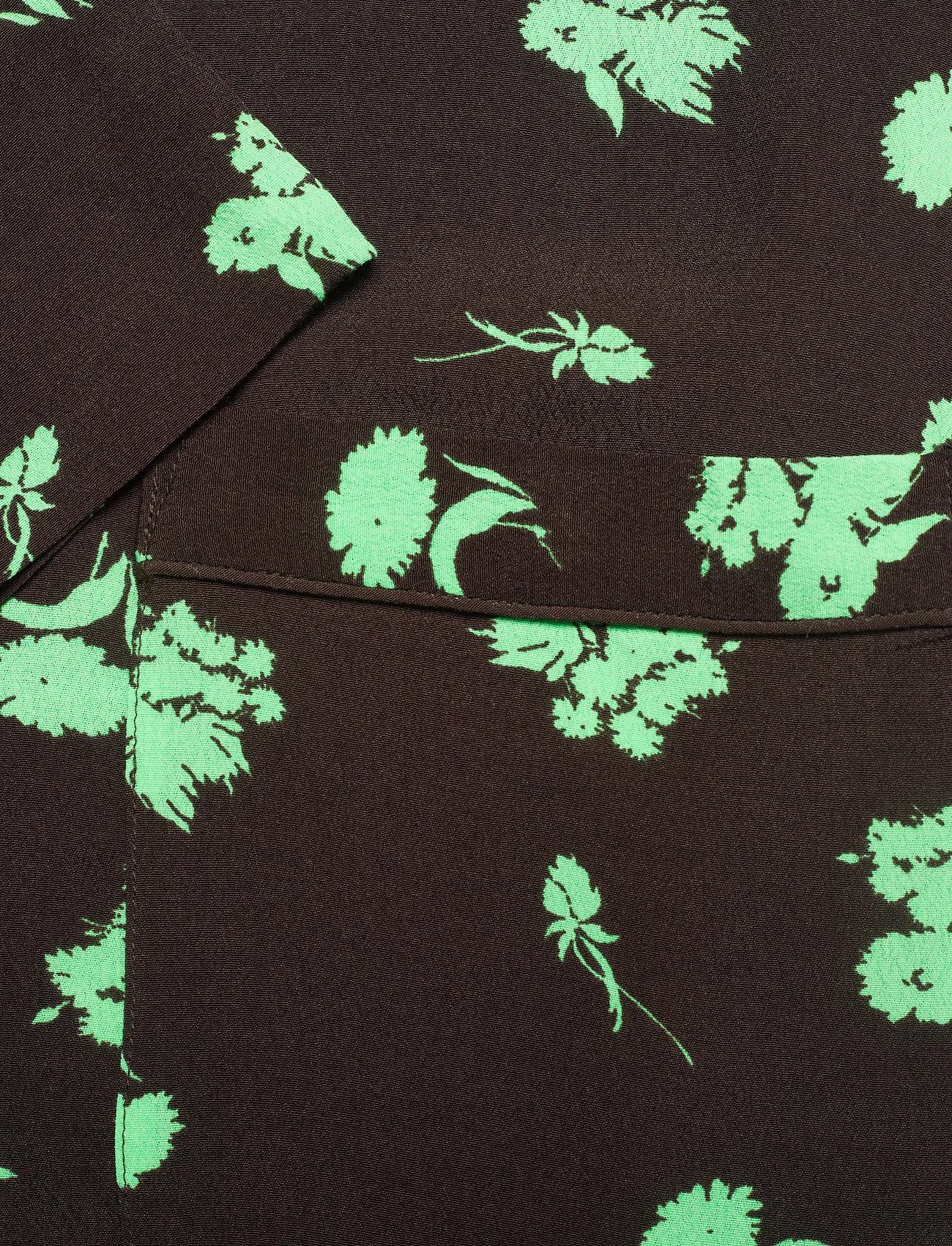 Ganni - Printed Crepe - langærmede bluser - mole - 3