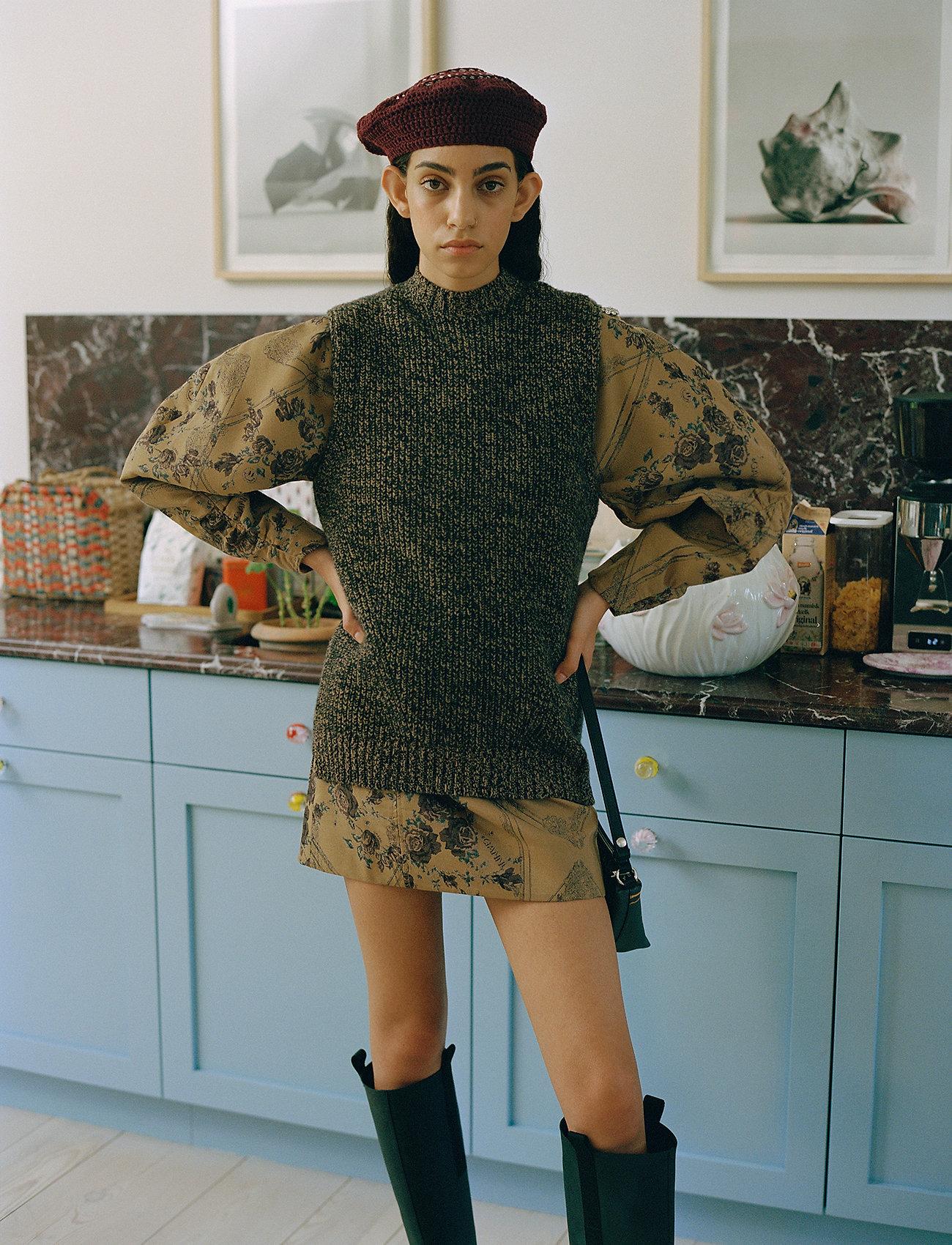 Ganni - Brocade Jacquard - summer dresses - tiger's eye - 0
