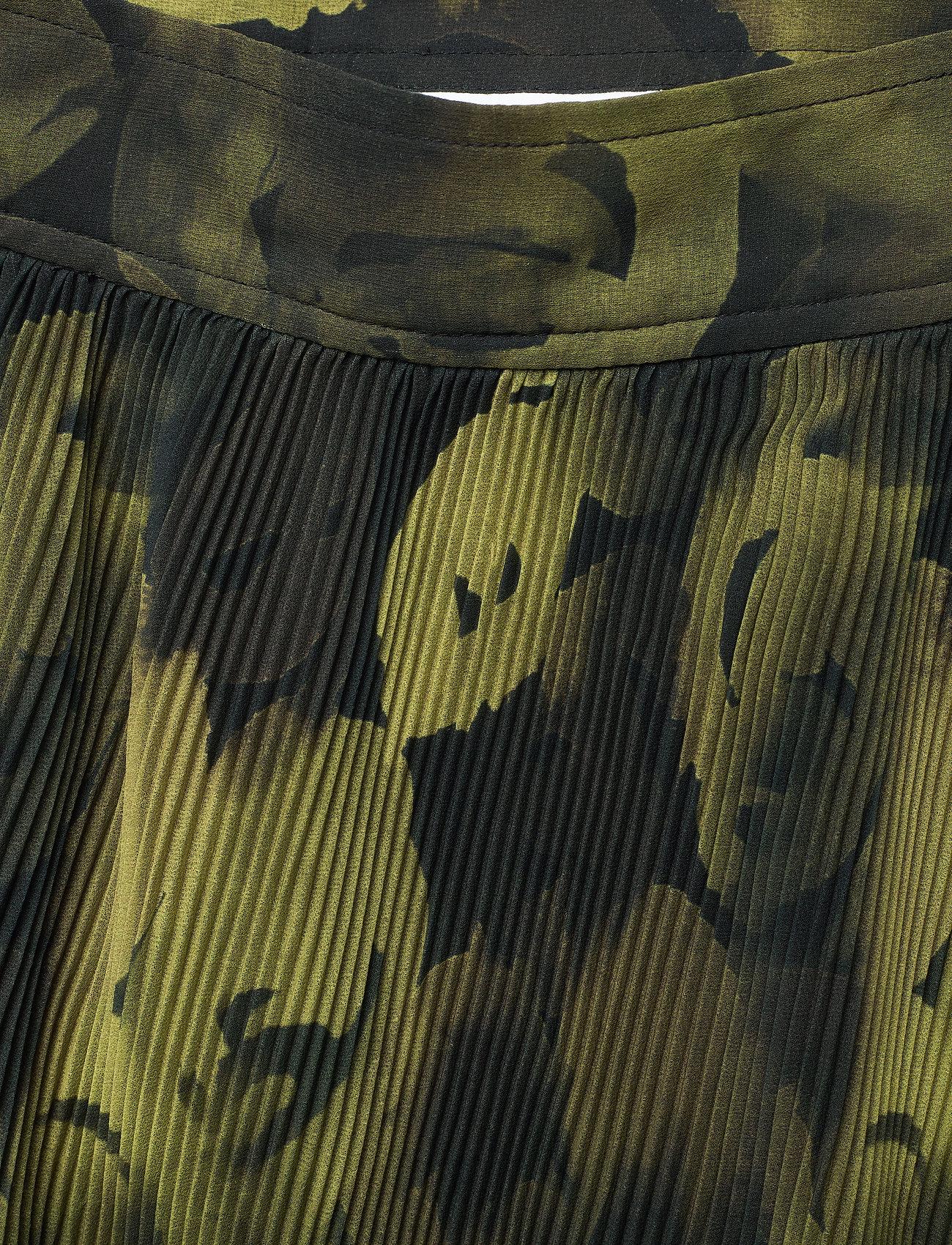 Ganni - Pleated Georgette - midi skirts - olive drab - 2