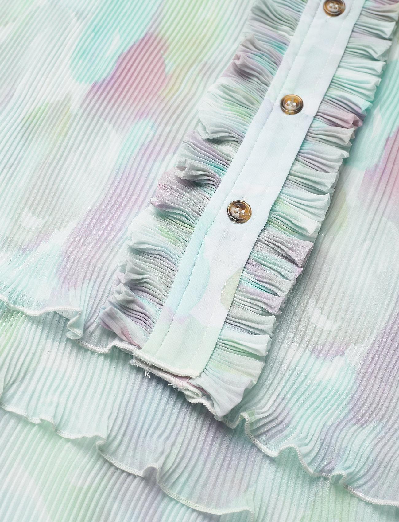 Ganni - Pleated Georgette - hverdagskjoler - bright white - 3