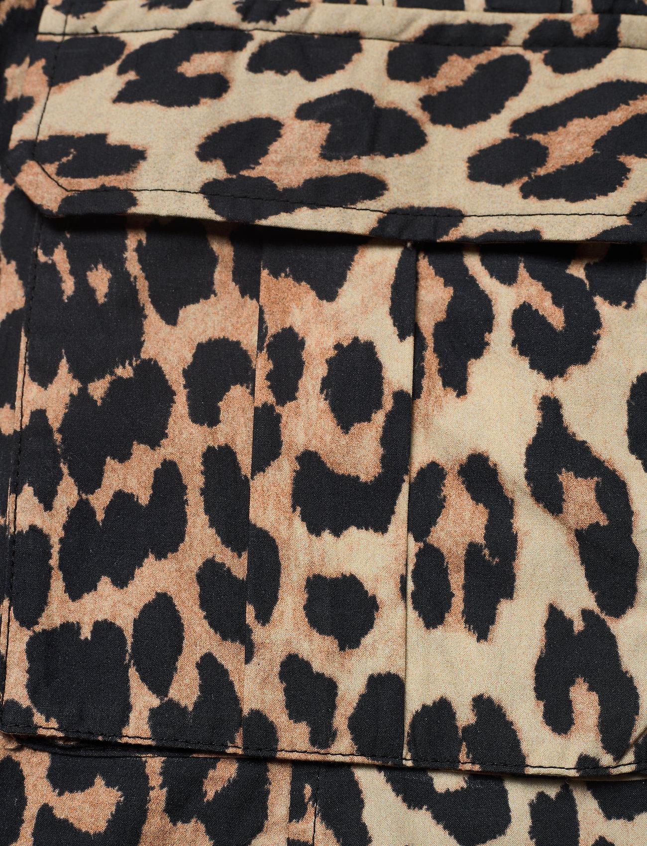 Ganni - Printed Cotton Poplin - sommerkjoler - leopard - 3