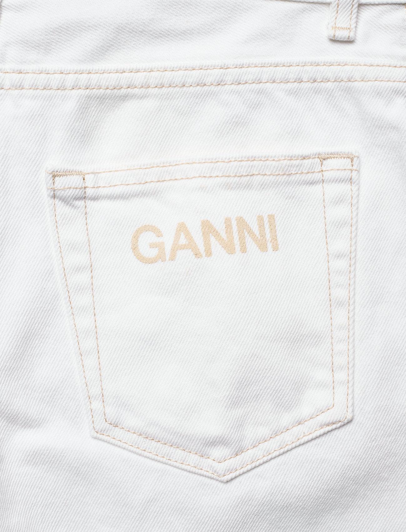 Ganni - Classic Denim - brede jeans - bright white - 4