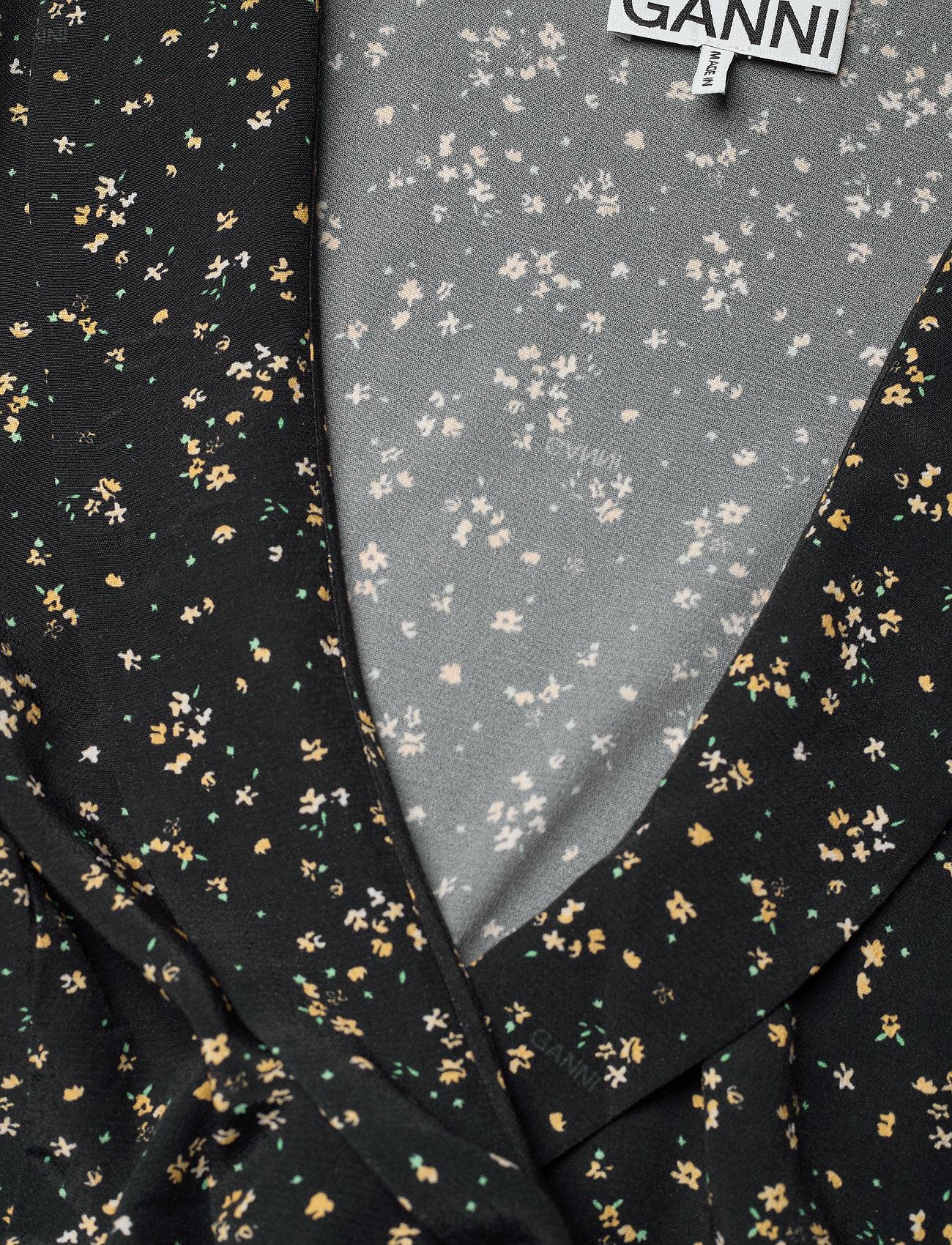 Ganni - Wrap Dress - sommerkjoler - black - 2